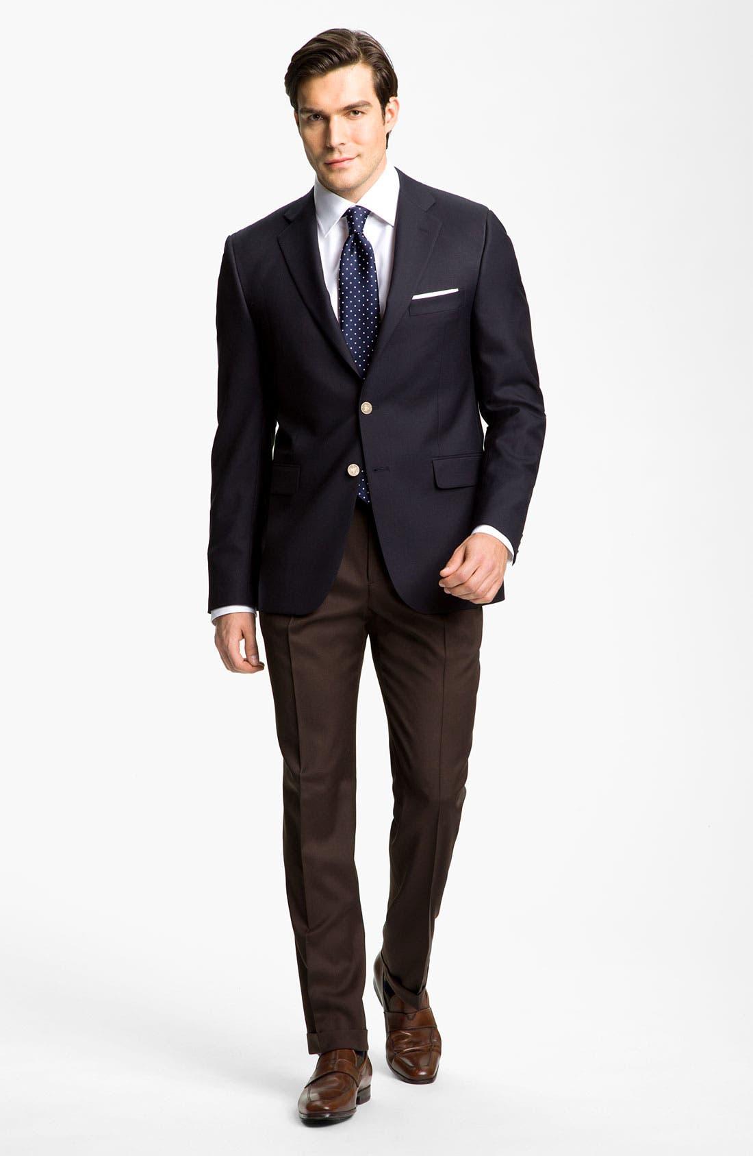 Alternate Image 3  - John W. Nordstrom® Men's Solid Herringbone Cotton Traditional Fit Dress Shirt