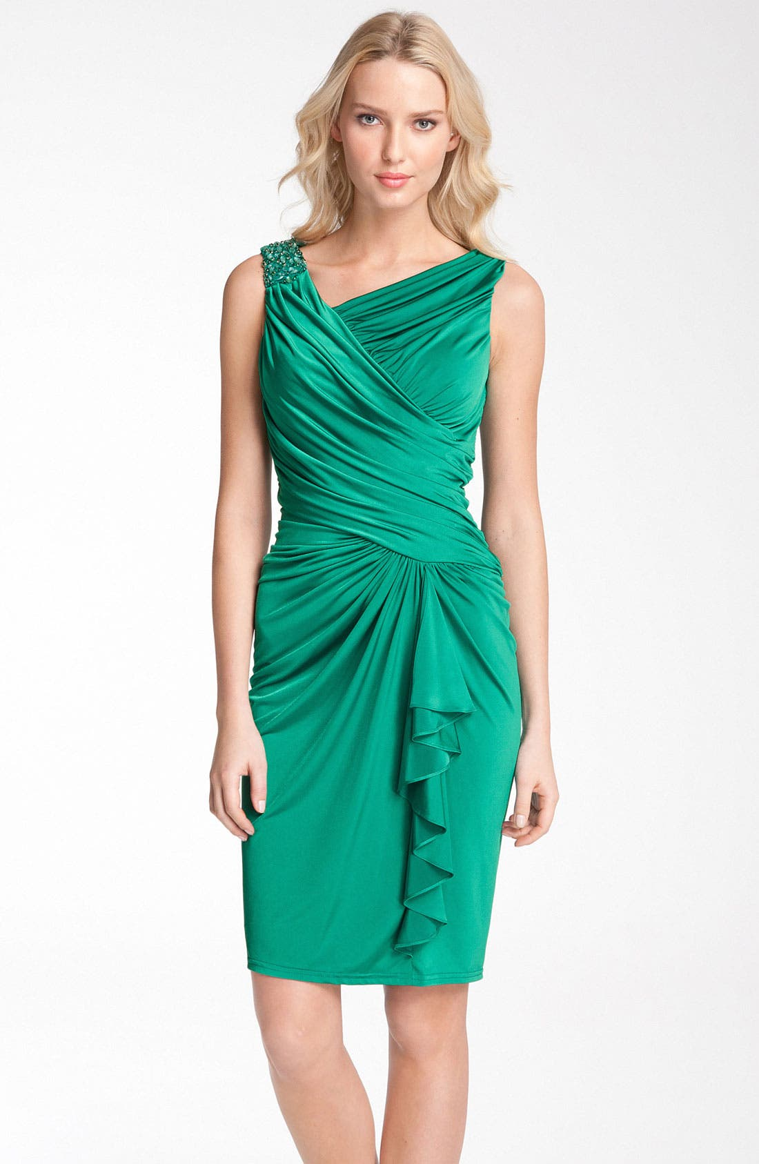 Alternate Image 1 Selected - Tadashi Shoji Ruched Jersey Dress