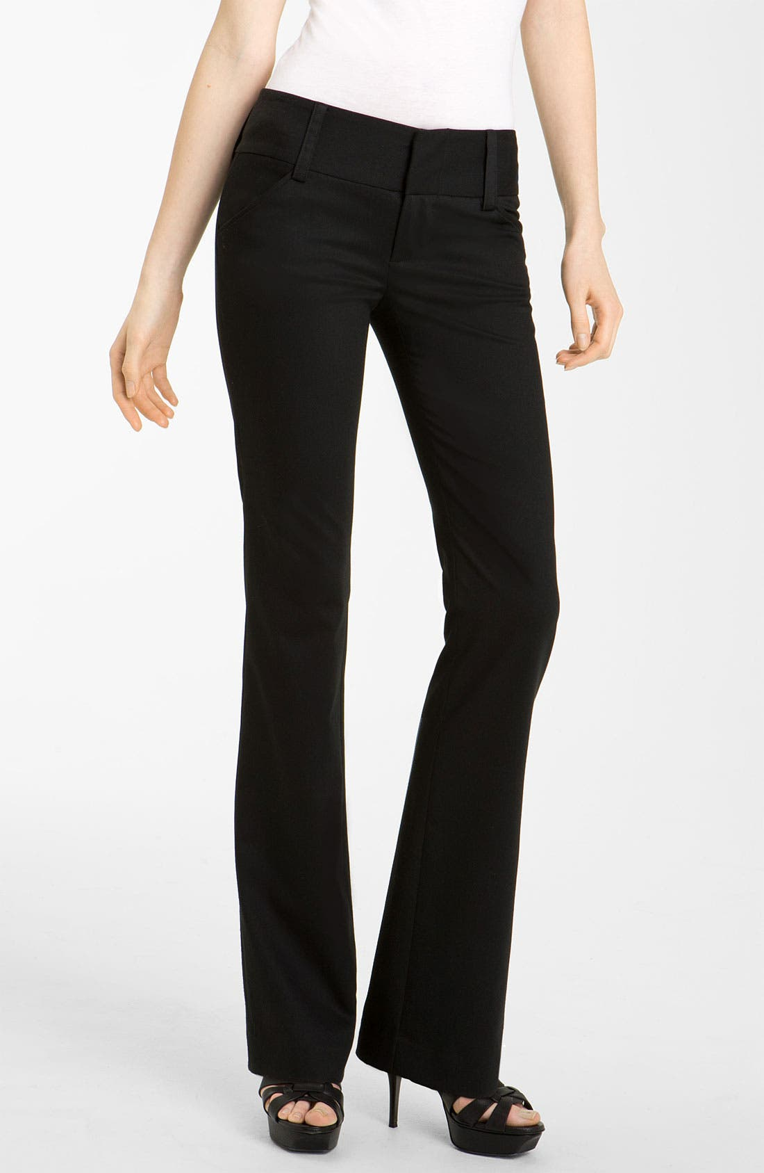 Main Image - Alice + Olivia 'Olivia' Flare Leg Stretch Wool Pants