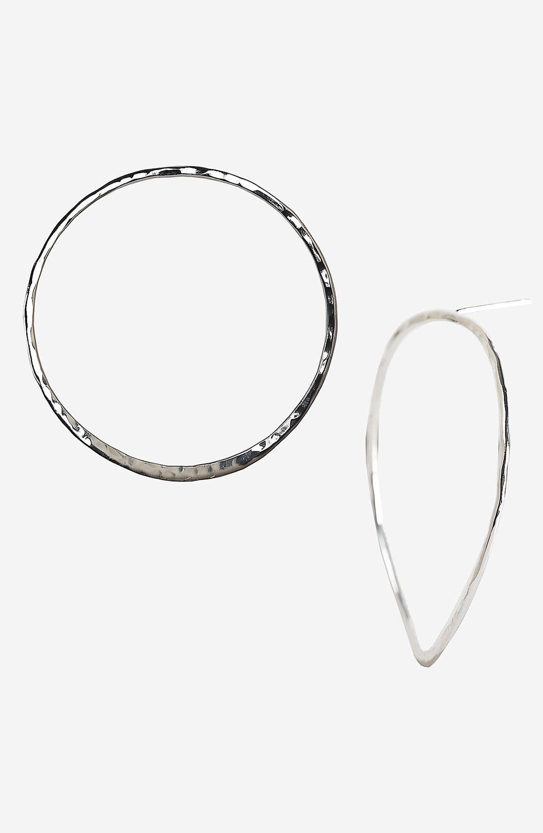 Main Image - Argento Vivo 'Faceout' Hammered Hoop Earrings