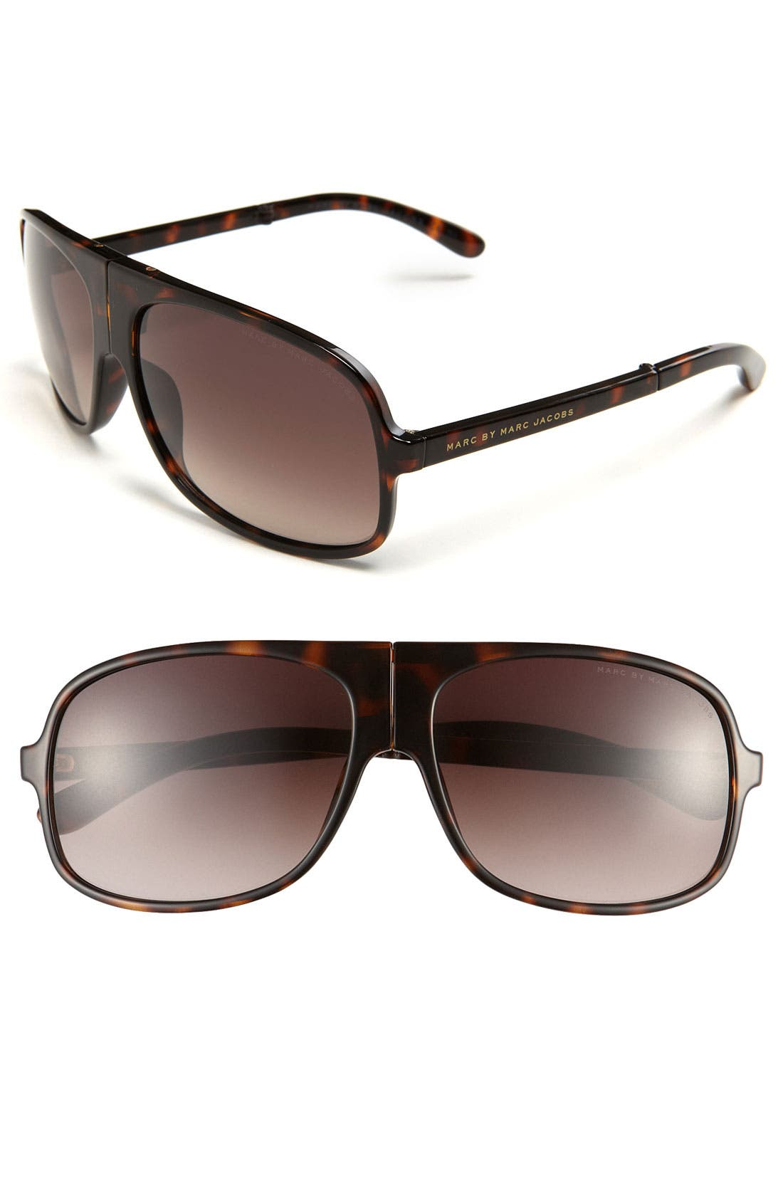 Main Image - MARC BY MARC JACOBS 61mm Folding Aviator Sunglasses