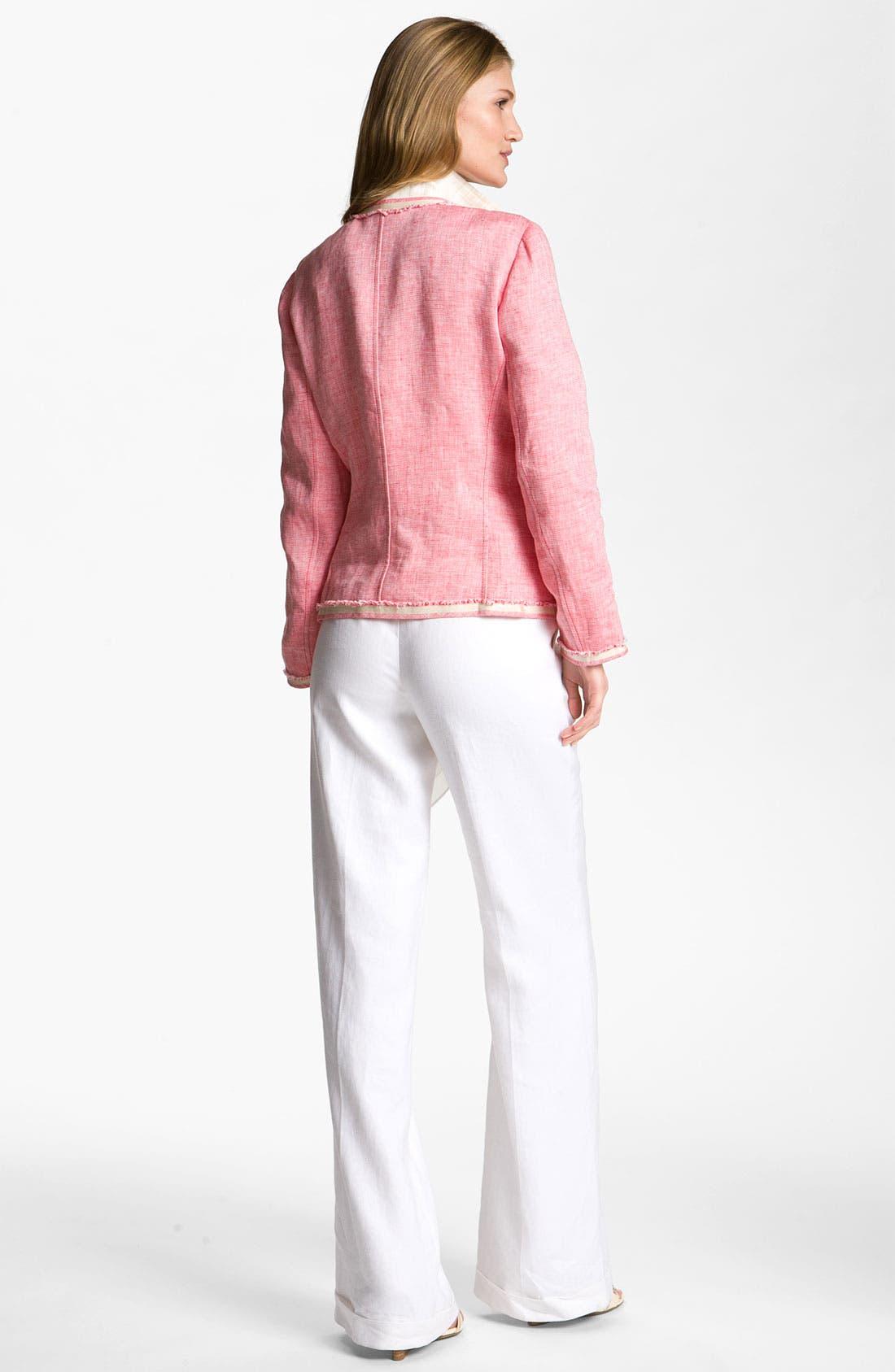 Alternate Image 5  - Lafayette 148 New York 'Lavish' Cuff Linen Pants