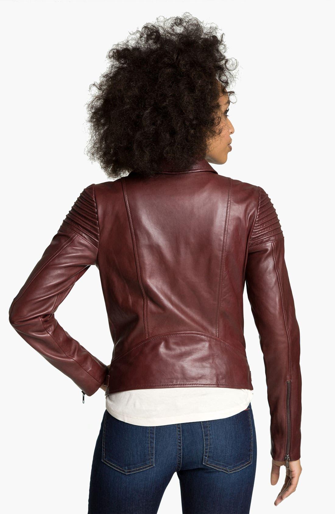 Alternate Image 2  - Trouvé Quilted Leather Biker Jacket