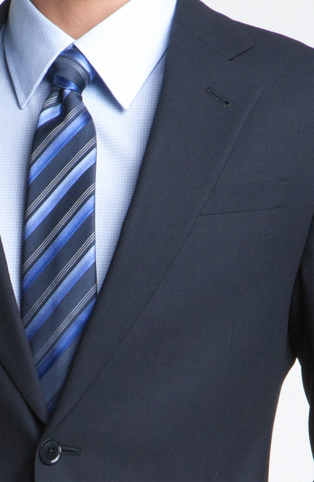 Alternate Image 6  - Armani Collezioni Trim Fit Wool Suit