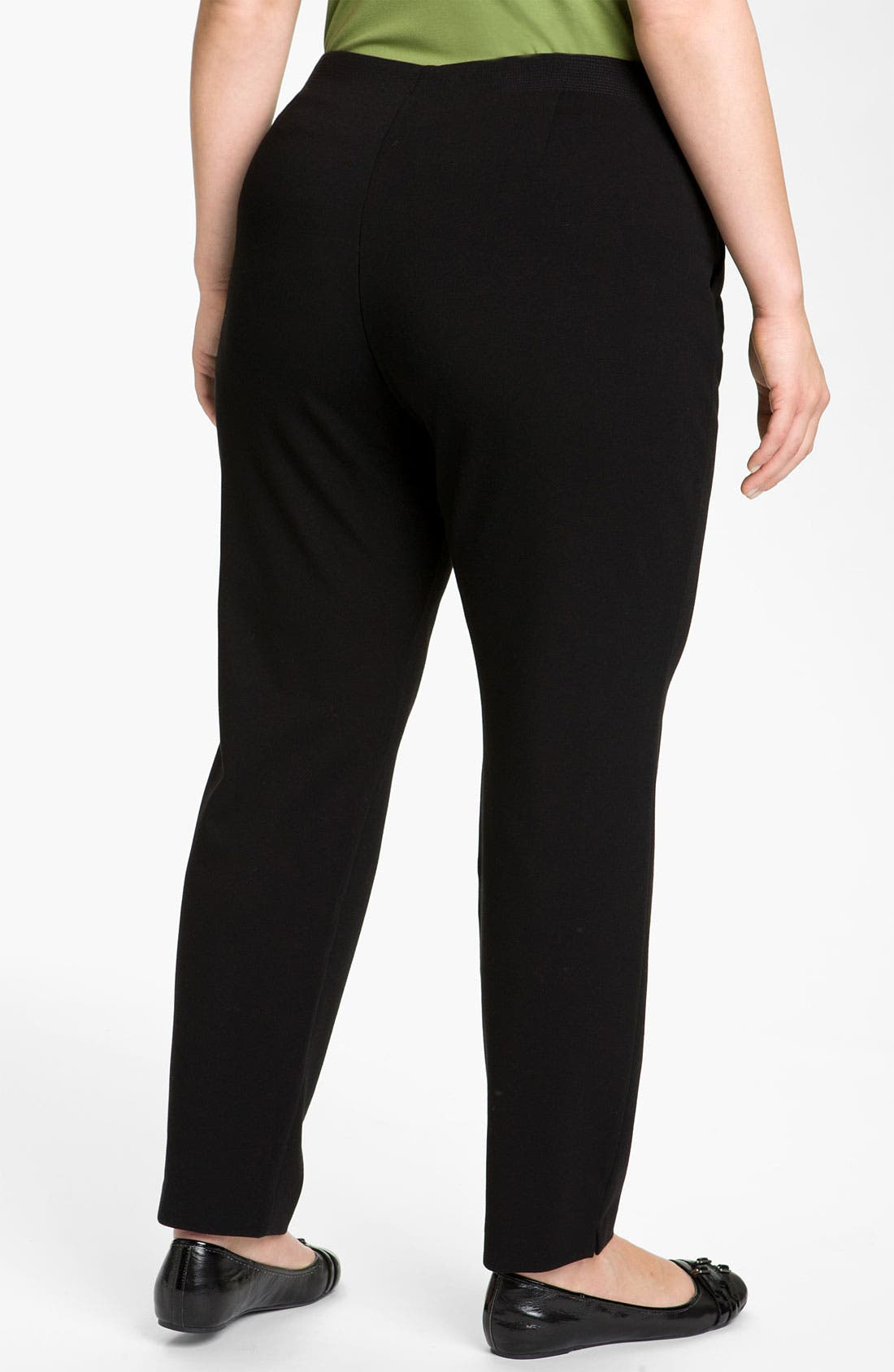 Alternate Image 2  - Eileen Fisher Stitched Waist Slim Ankle Pants (Plus)