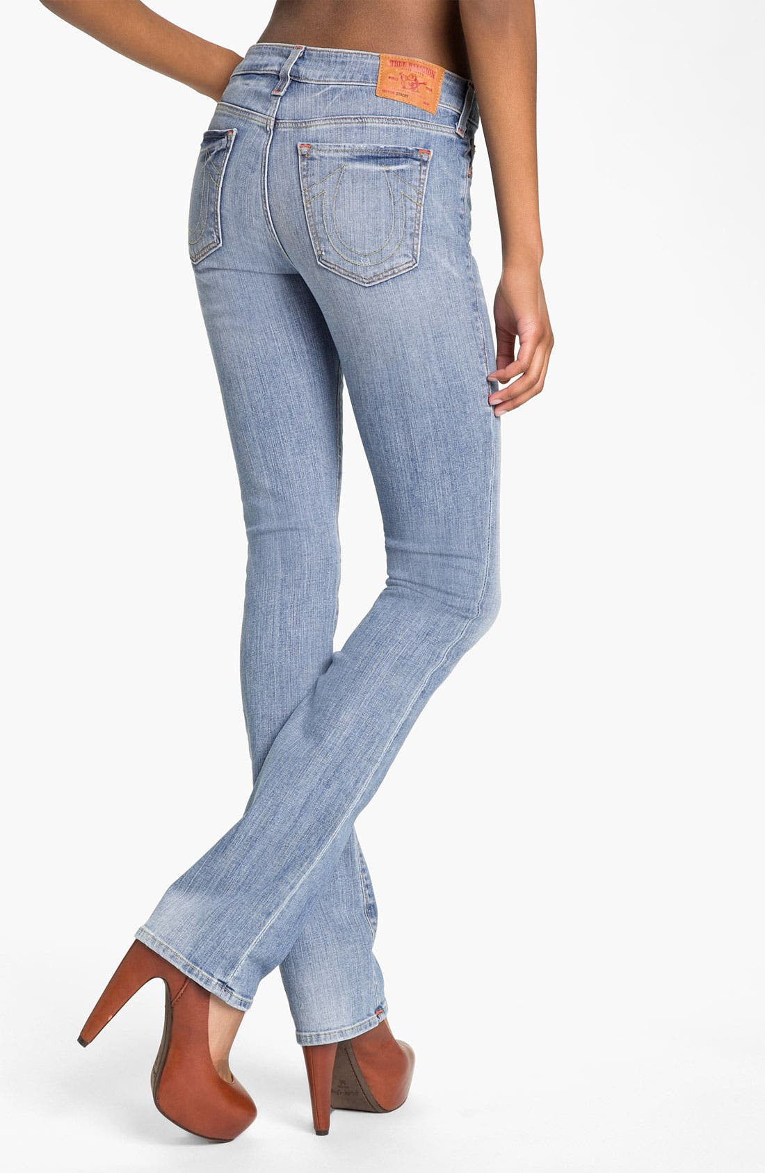 Alternate Image 2  - True Religion Brand Jeans 'Stacey' Straight Leg Stretch Jeans (Drifter)
