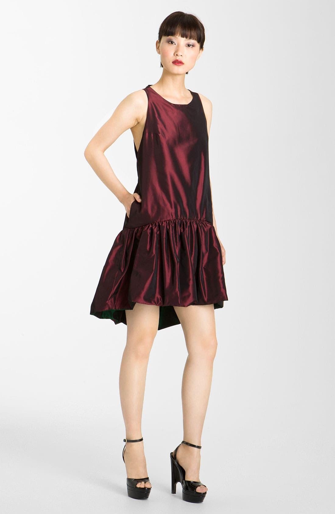 Alternate Image 3  - KENZO Reversible Drop Waist Taffeta Dress