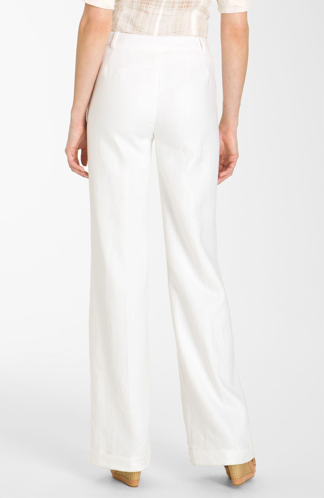 Alternate Image 2  - Lafayette 148 New York 'Lavish' Cuff Linen Pants