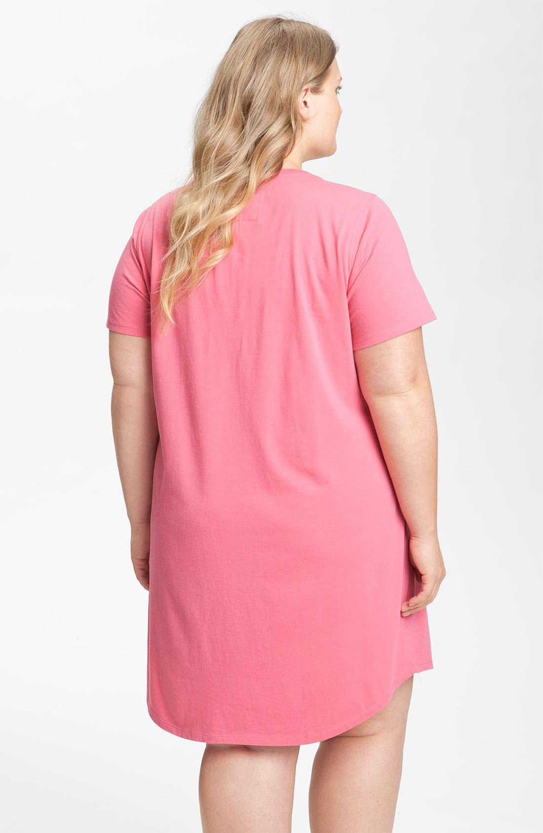 Alternate Image 2  - Nordstrom Short Sleeve Sleep Shirt (Plus) (Online Exclusive)