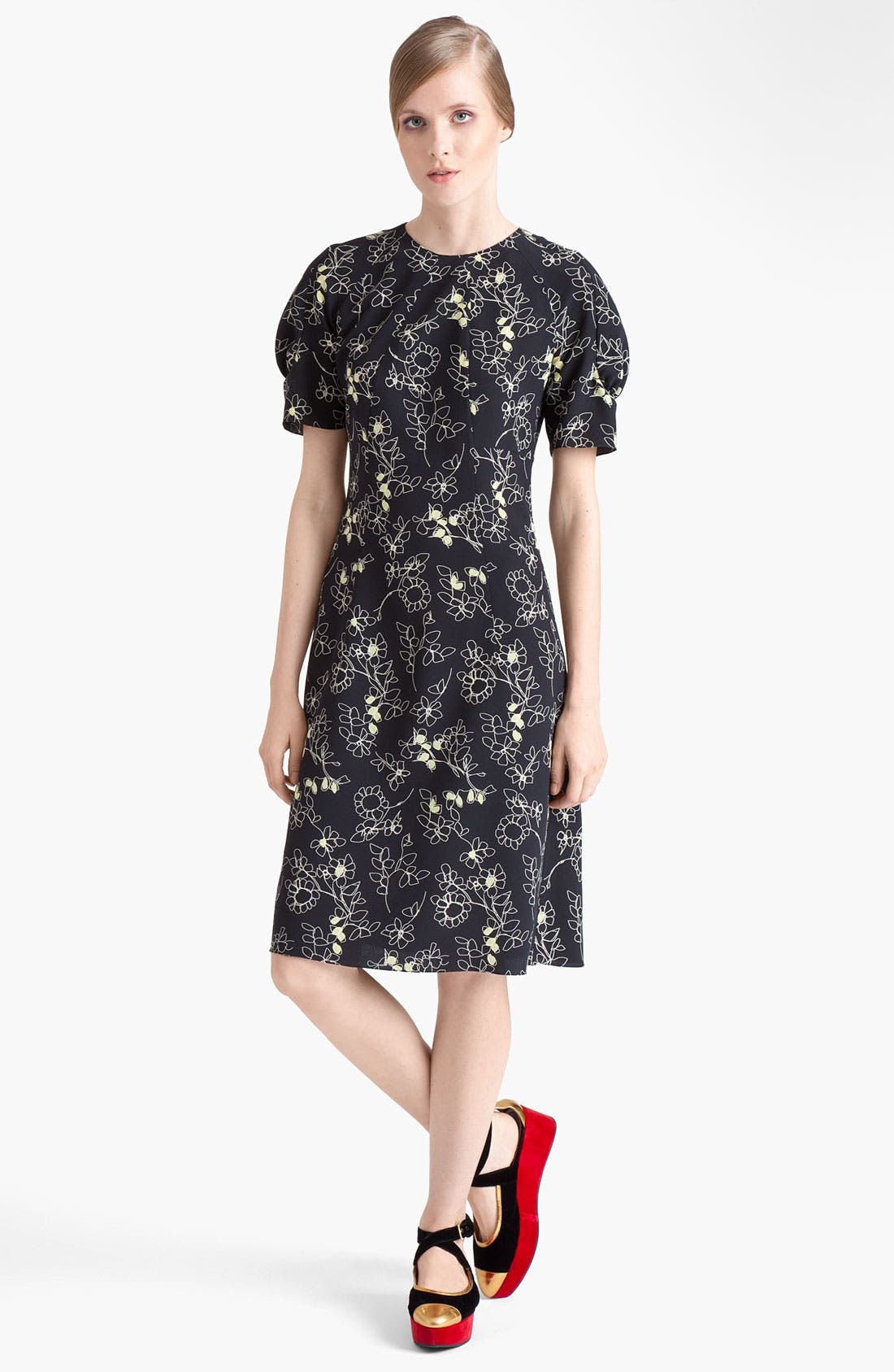 Alternate Image 1 Selected - Marni Floral Print Silk Dress