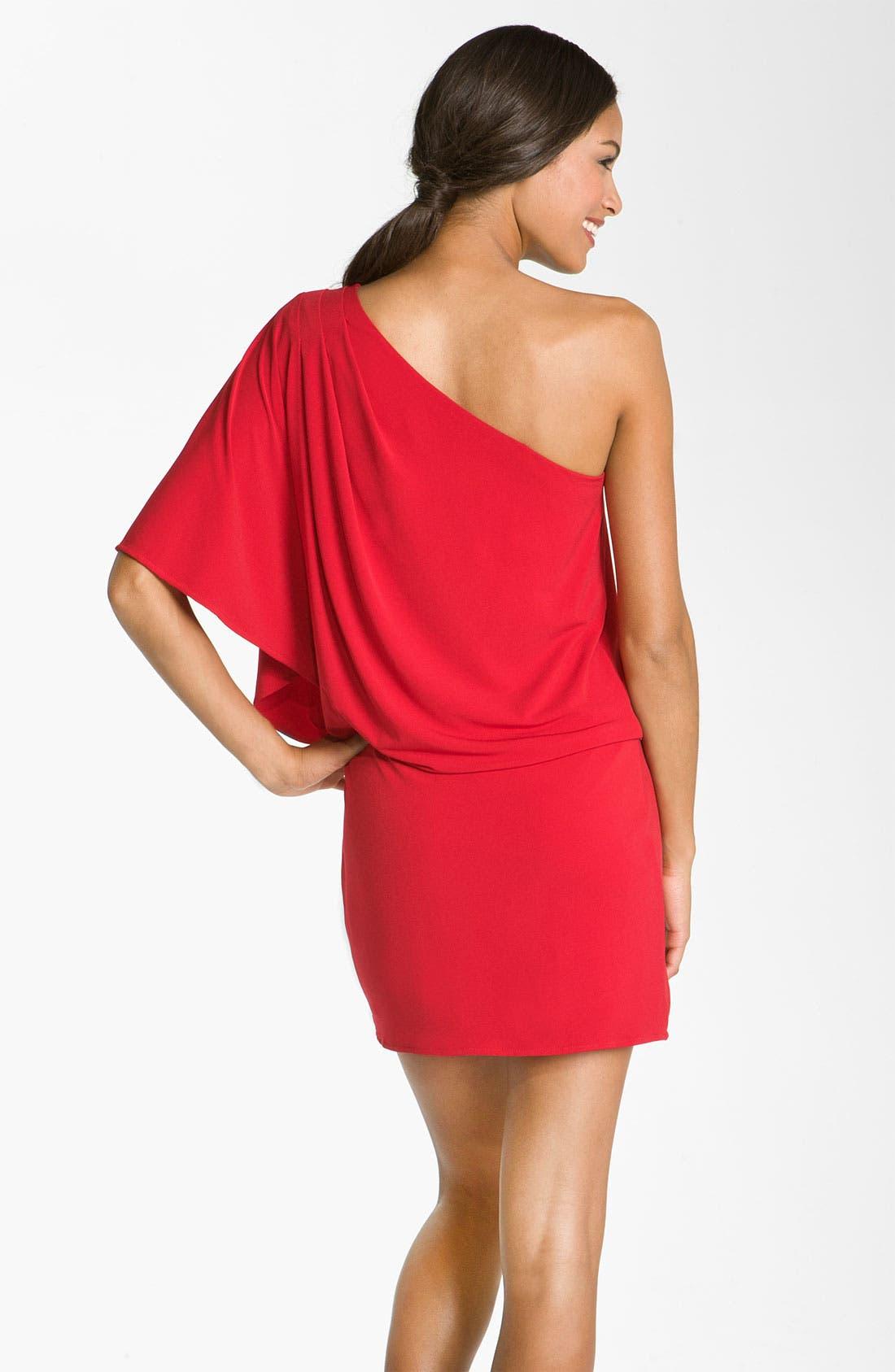 Alternate Image 2  - JS Boutique One Shoulder Jersey Dress