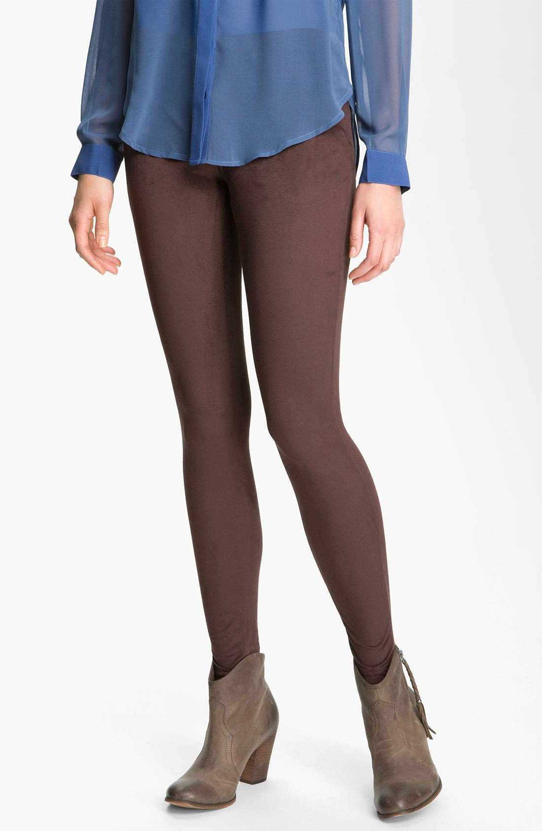 Alternate Image 1 Selected - Hue Microsuede Leggings