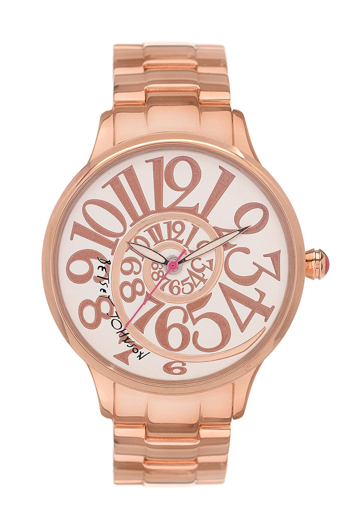 Main Image - Betsey Johnson 'Lots 'n' Lots of Time' Swirl Dial Watch, 38mm