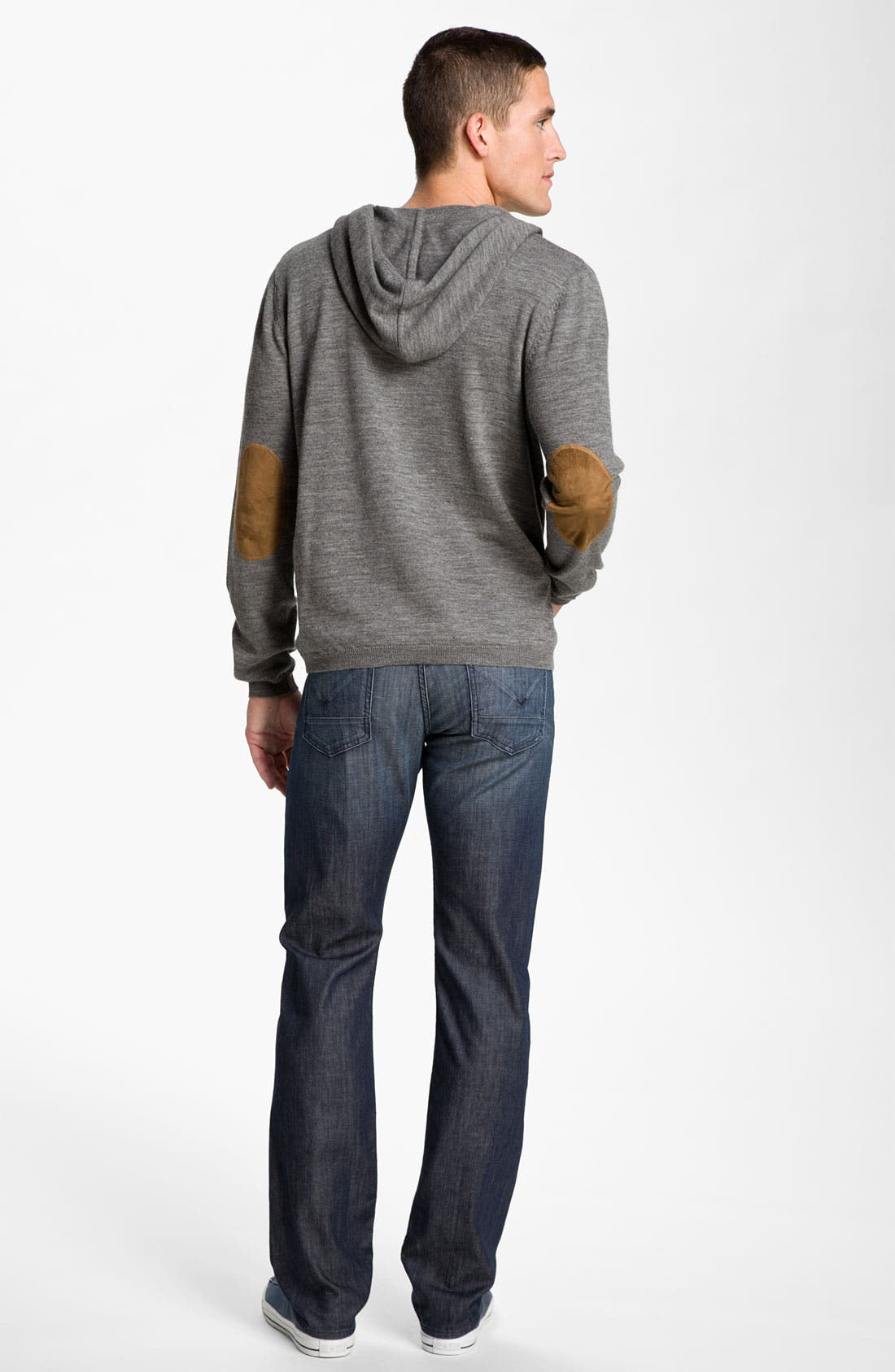 Alternate Image 5  - 7 Diamonds 'Kingston Heath' Trim Fit Hooded Wool Sweater with Elbow Patches