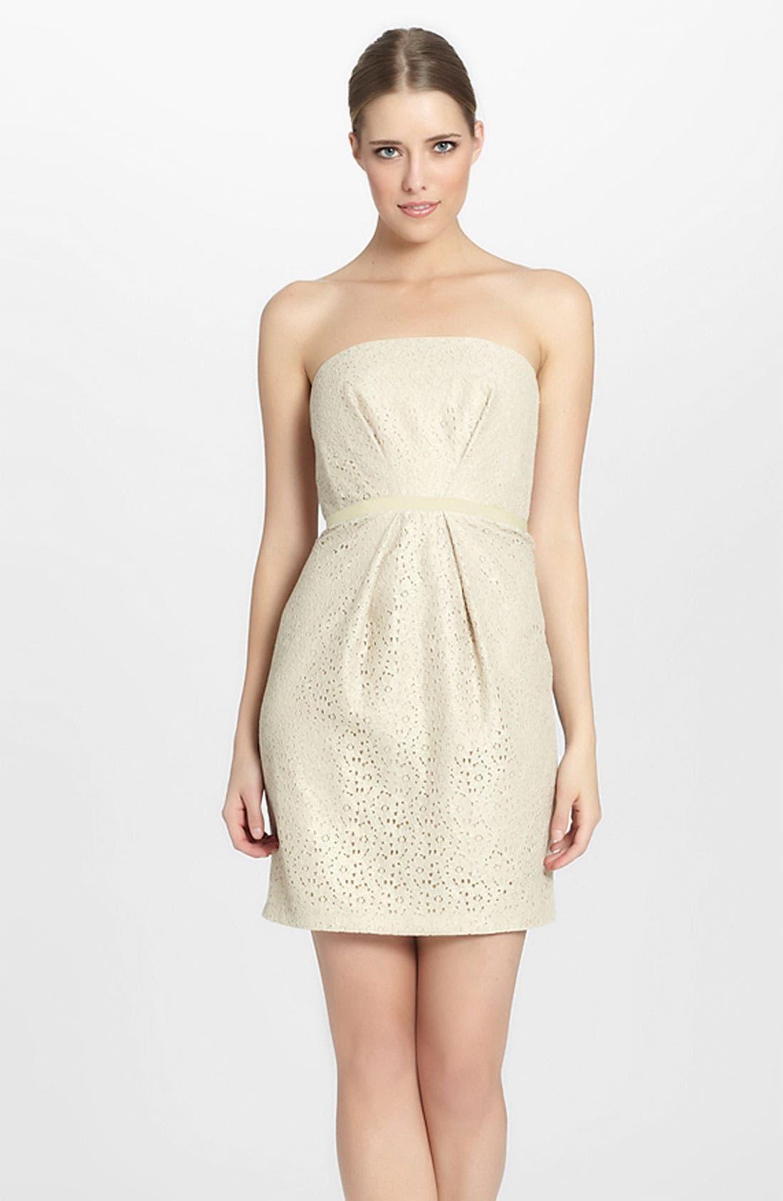 Main Image - Seamline Cynthia Steffe 'Chloe' Foiled Lace Sheath Dress