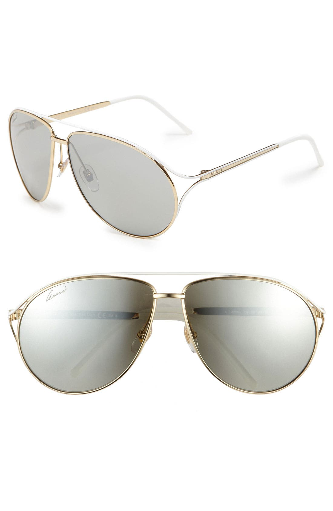 Alternate Image 1 Selected - Gucci Metal Aviator Sunglasses