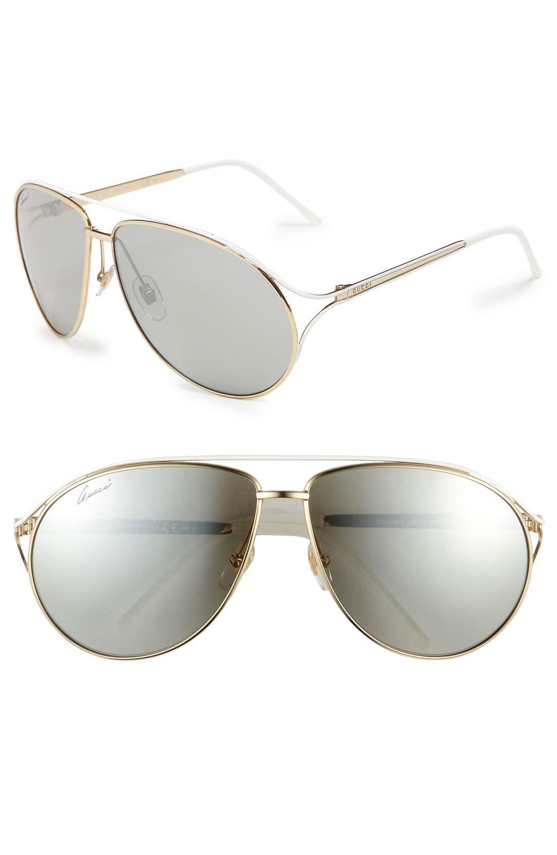 Main Image - Gucci Metal Aviator Sunglasses