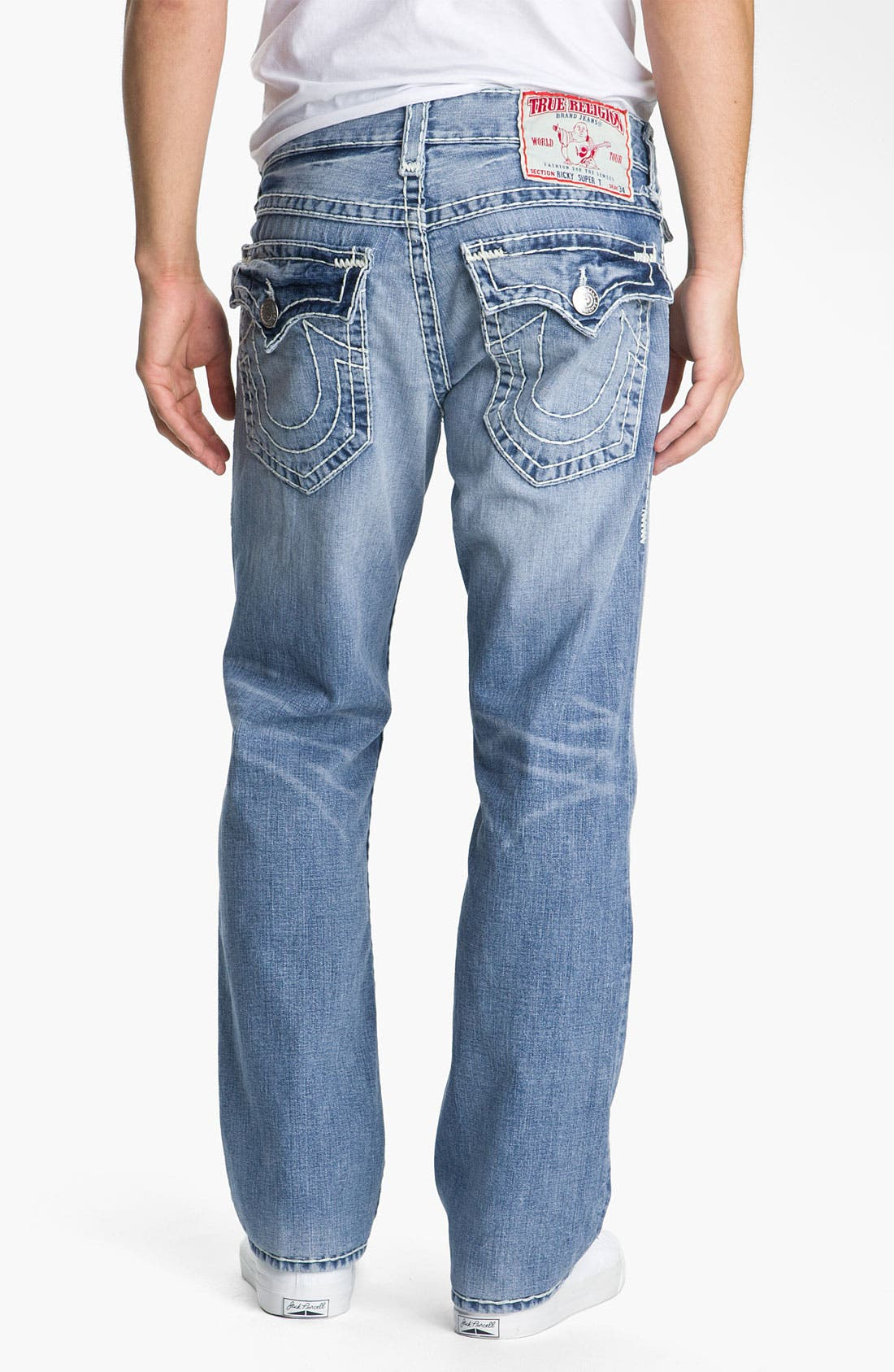 Alternate Image 1 Selected - True Religion Brand Jeans 'Ricky - Natural Super T' Straight Leg Jeans (Medium Drifter)