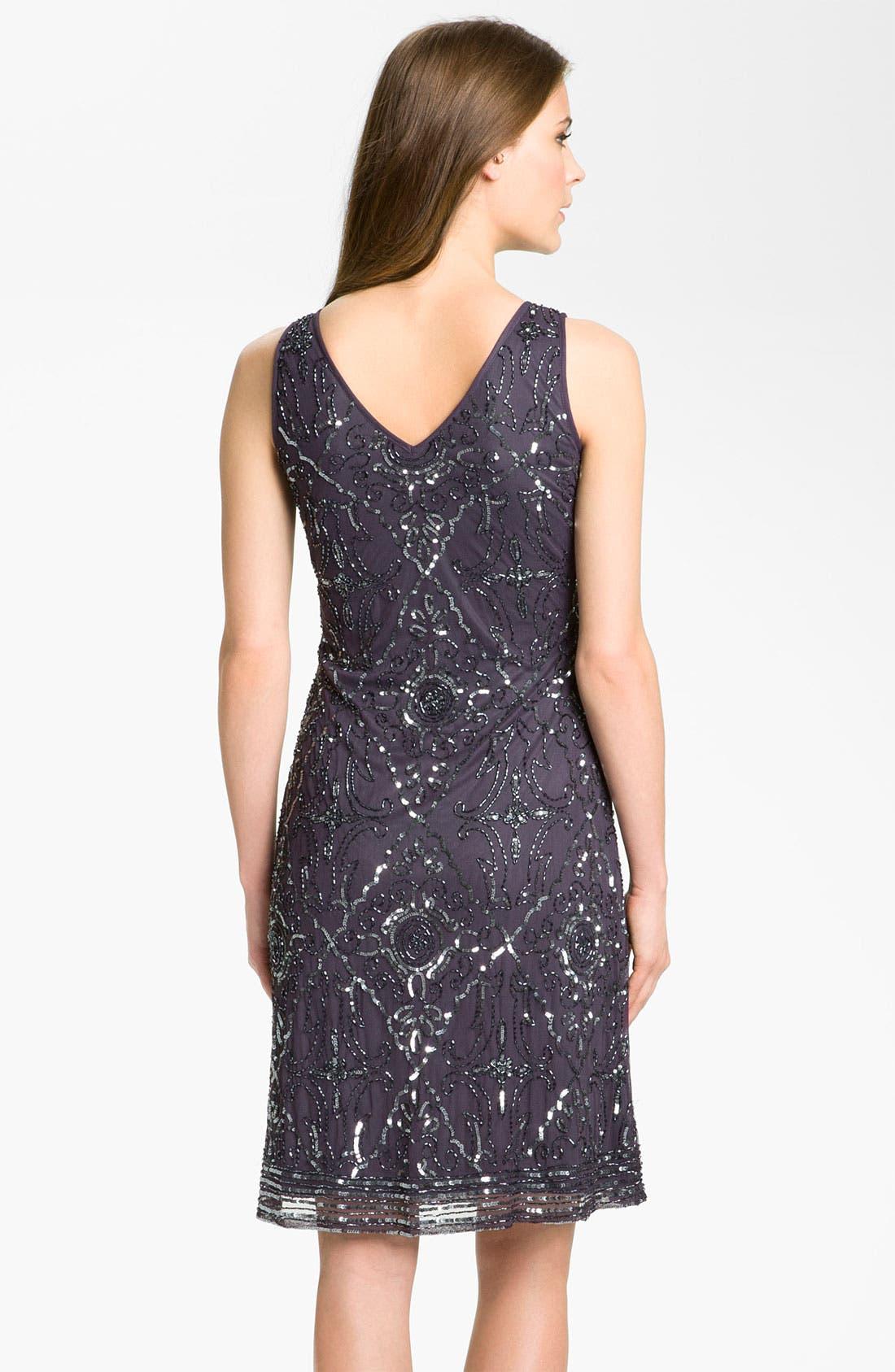 Alternate Image 4  - Patra Beaded Mesh Dress & Bolero
