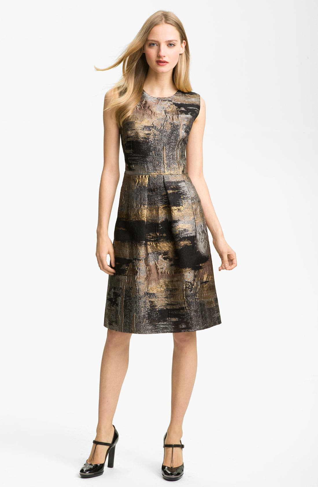 Main Image - Lela Rose Full Skirt Organza Sheath Dress