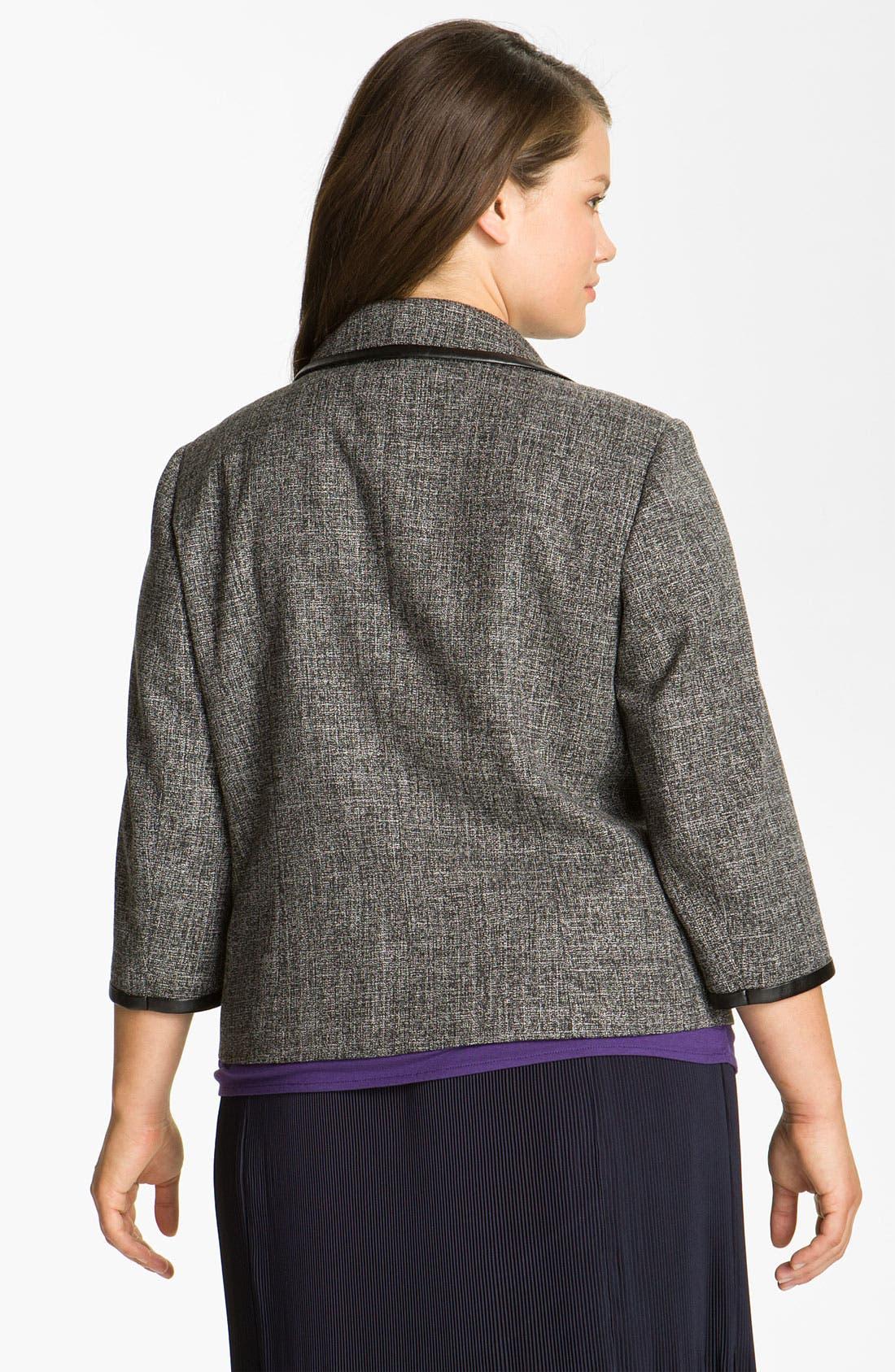 Alternate Image 2  - Sejour Faux Leather Trim Jacket (Plus)