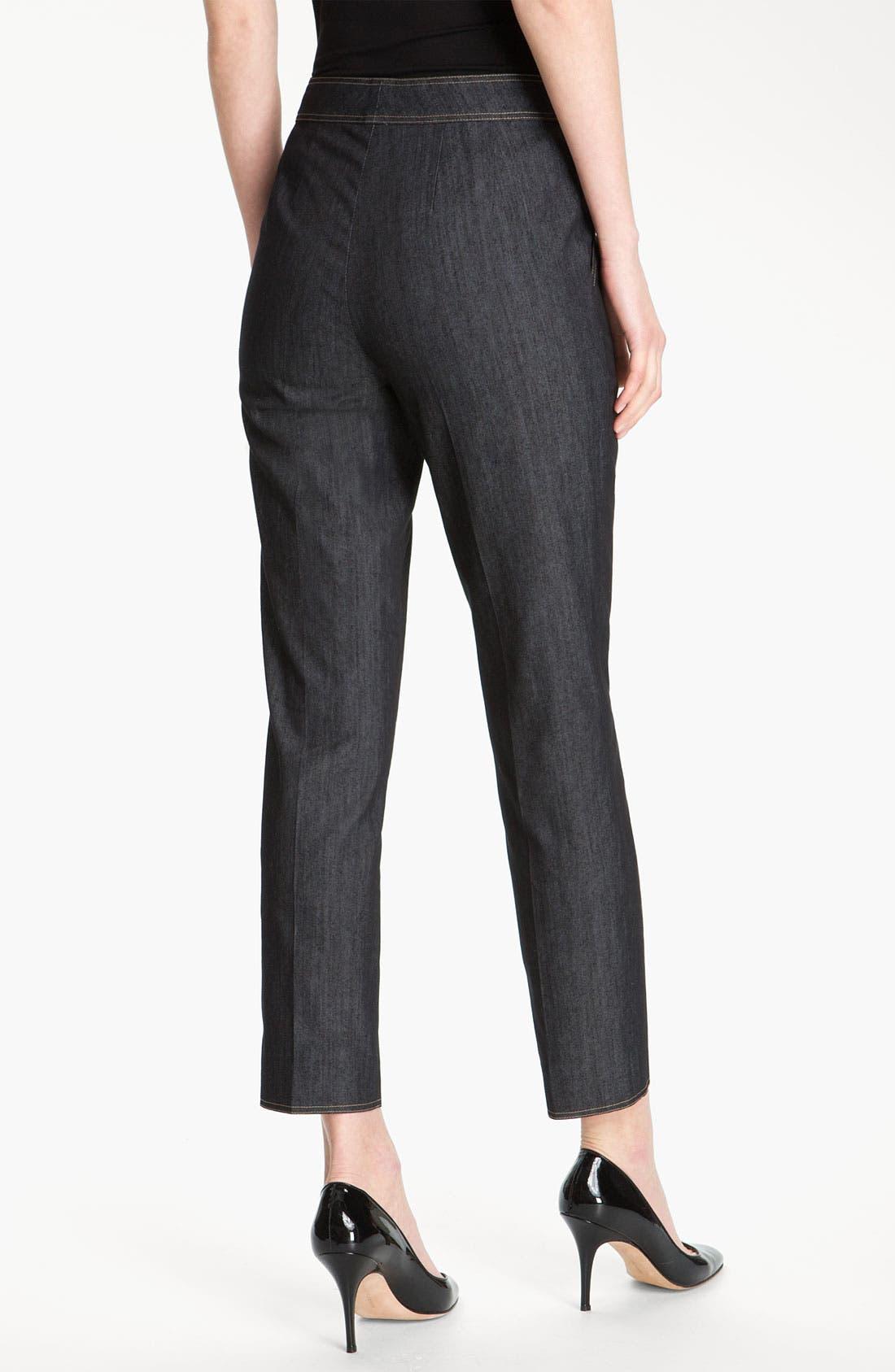 Alternate Image 3  - St. John Collection Lightweight Crop Denim Pants