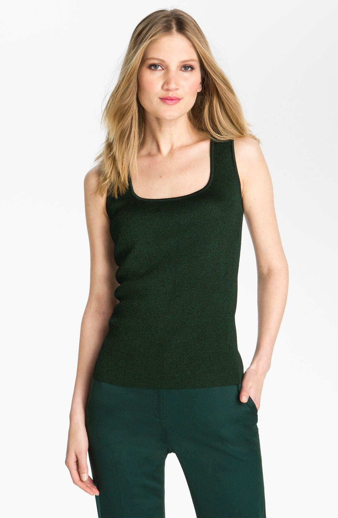 Main Image - St. John Collection Shimmer Knit Sleeveless Shell