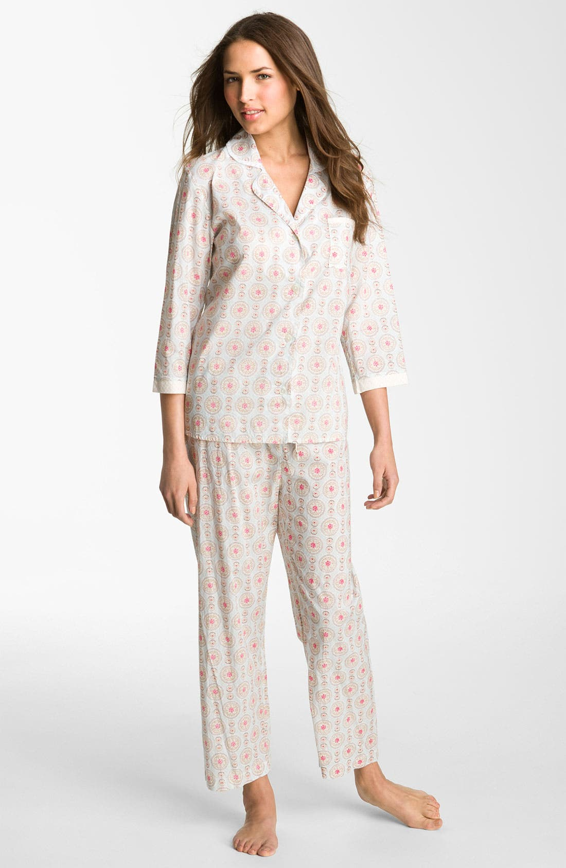Alternate Image 1 Selected - Carole Hochman Designs 'Wood Cut Floral' Pajamas