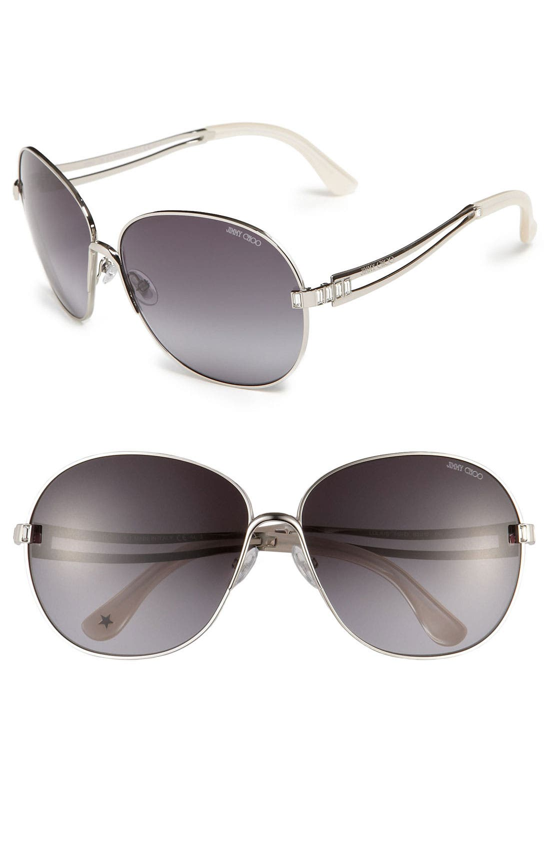 Alternate Image 1 Selected - Jimmy Choo 'Lola' Retro Metal Sunglasses