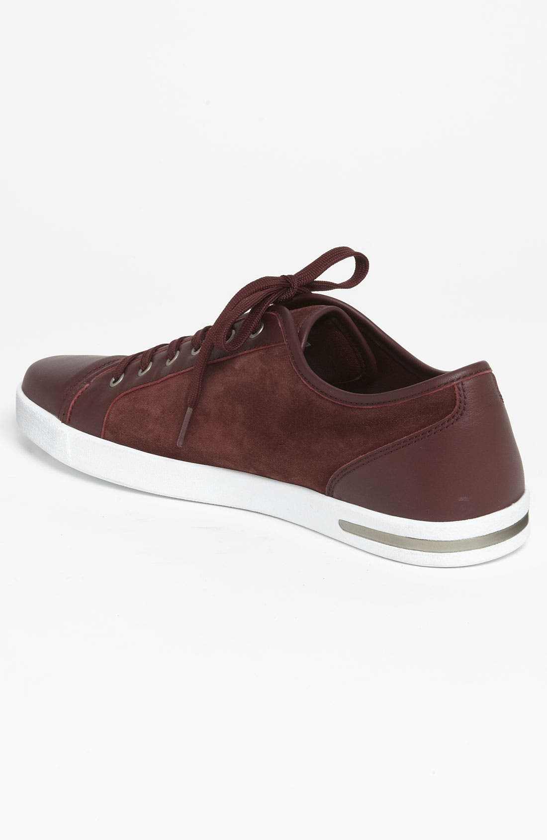 Suede Sneaker,                             Alternate thumbnail 2, color,                             Red Suede