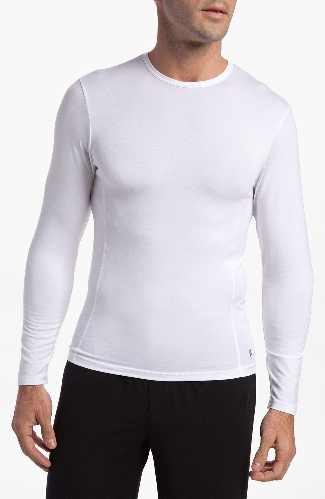 Alternate Image 1 Selected - Polo Ralph Lauren Long Sleeve Crewneck Modal Shirt
