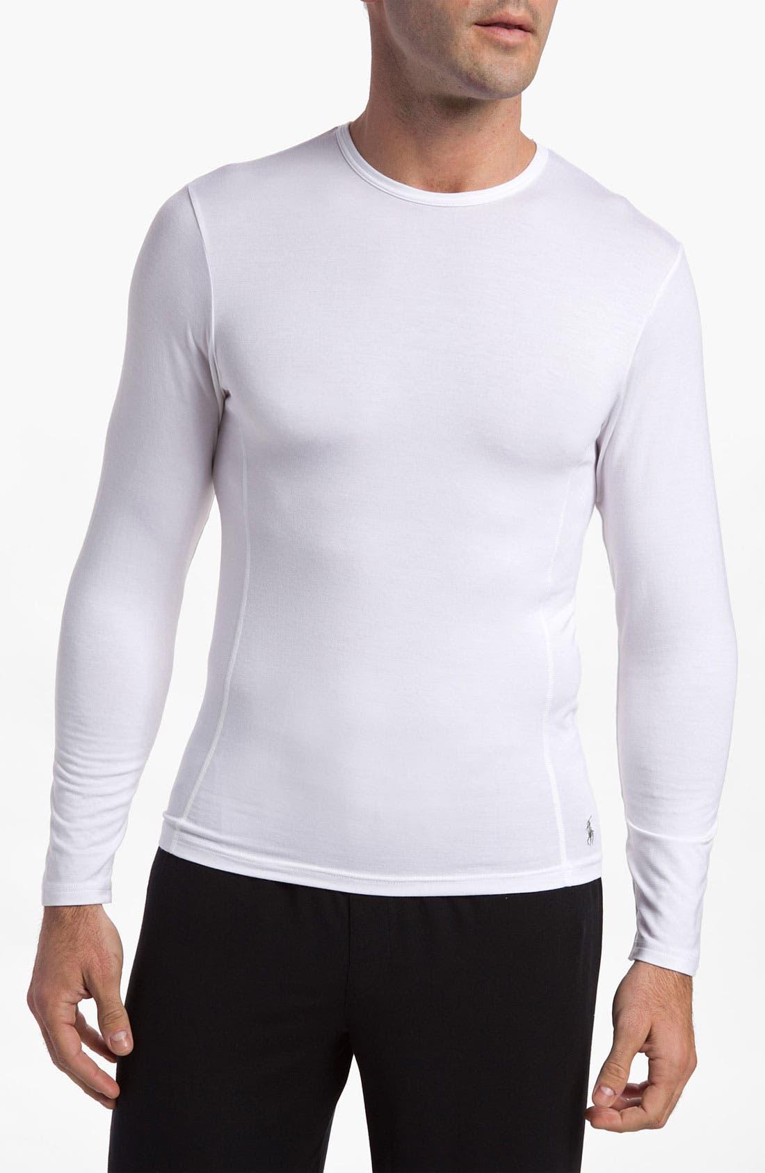 Main Image - Polo Ralph Lauren Long Sleeve Crewneck Modal Shirt