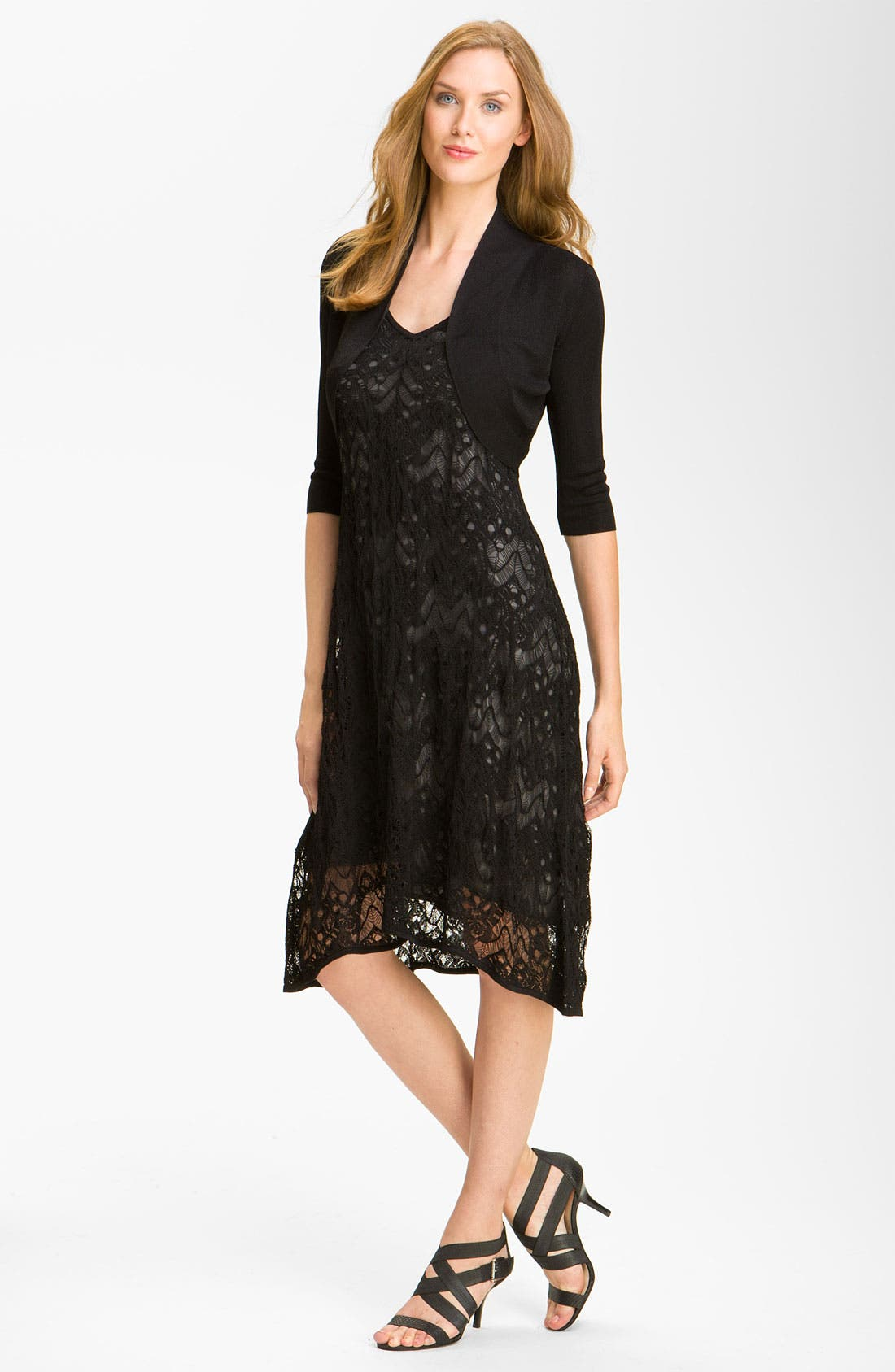 Alternate Image 4  - Eileen Fisher Lace Tank Dress