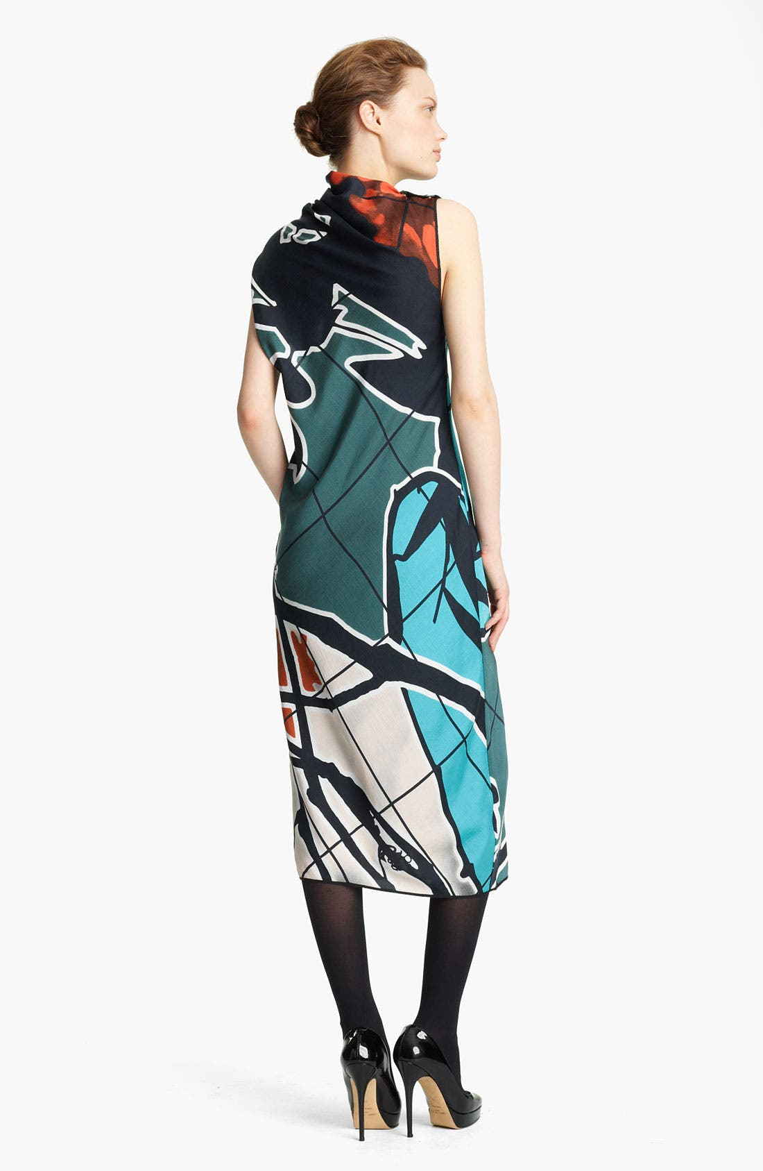 Alternate Image 2  - Missoni Print Mock Neck Woven Dress
