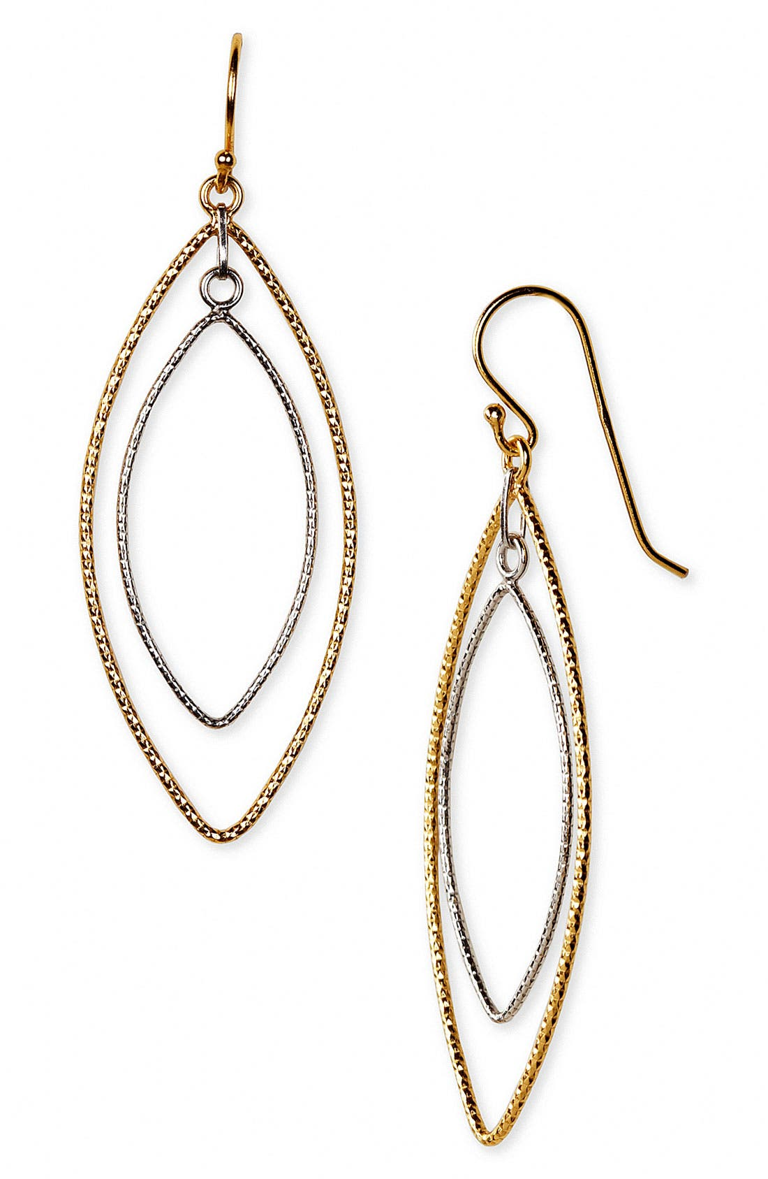 Alternate Image 1 Selected - Argento Vivo Double Marquise Drop Earrings (Nordstrom Exclusive)