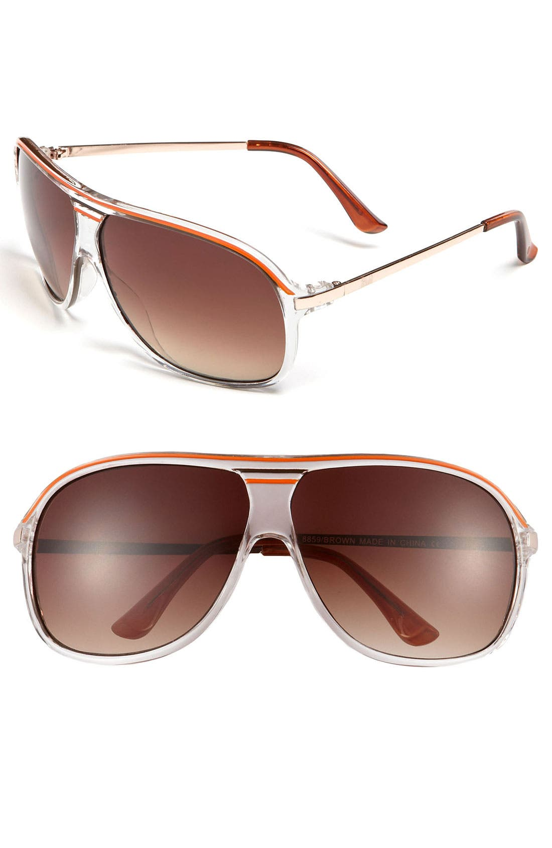 Main Image - KW 'Quest' Aviator Sunglasses