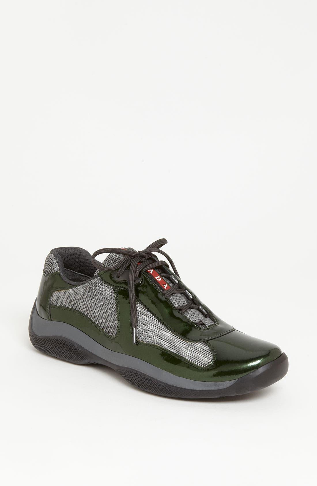 Alternate Image 1 Selected - Prada 'Punta Ala' Mesh & Leather Sneaker (Men)