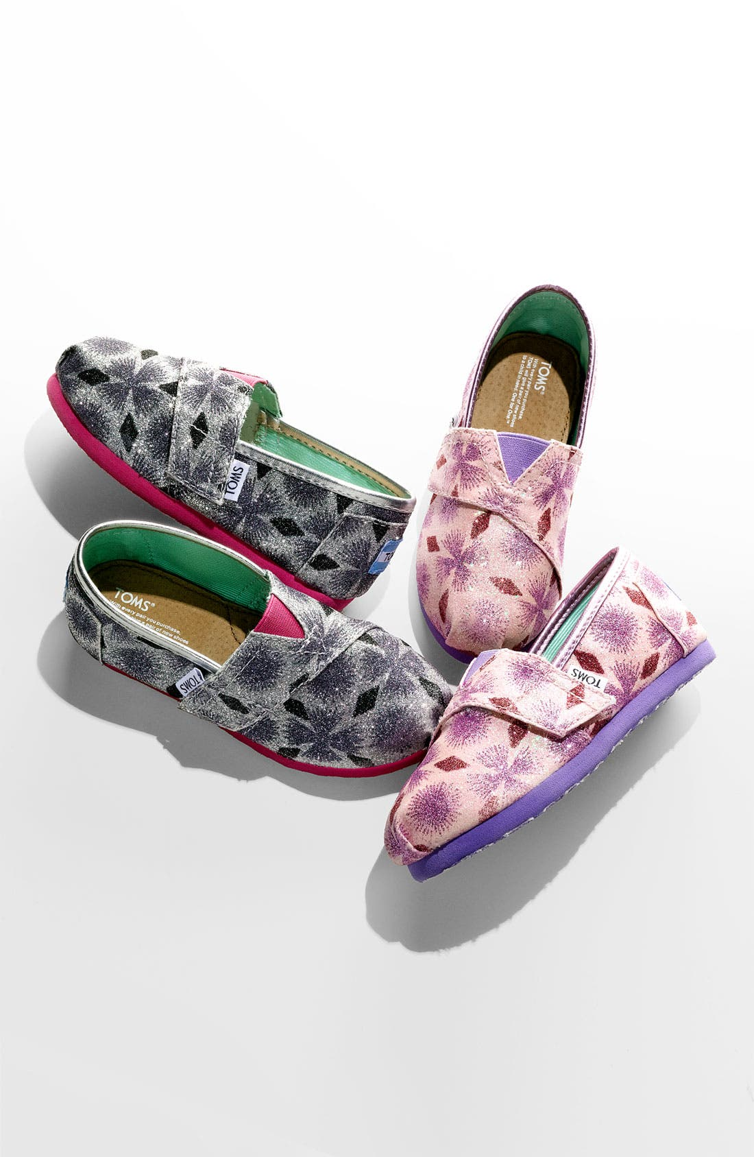Alternate Image 2  - TOMS 'Classic Tiny - Starburst' Slip-On (Baby, Walker & Toddler) (Nordstrom Exclusive)