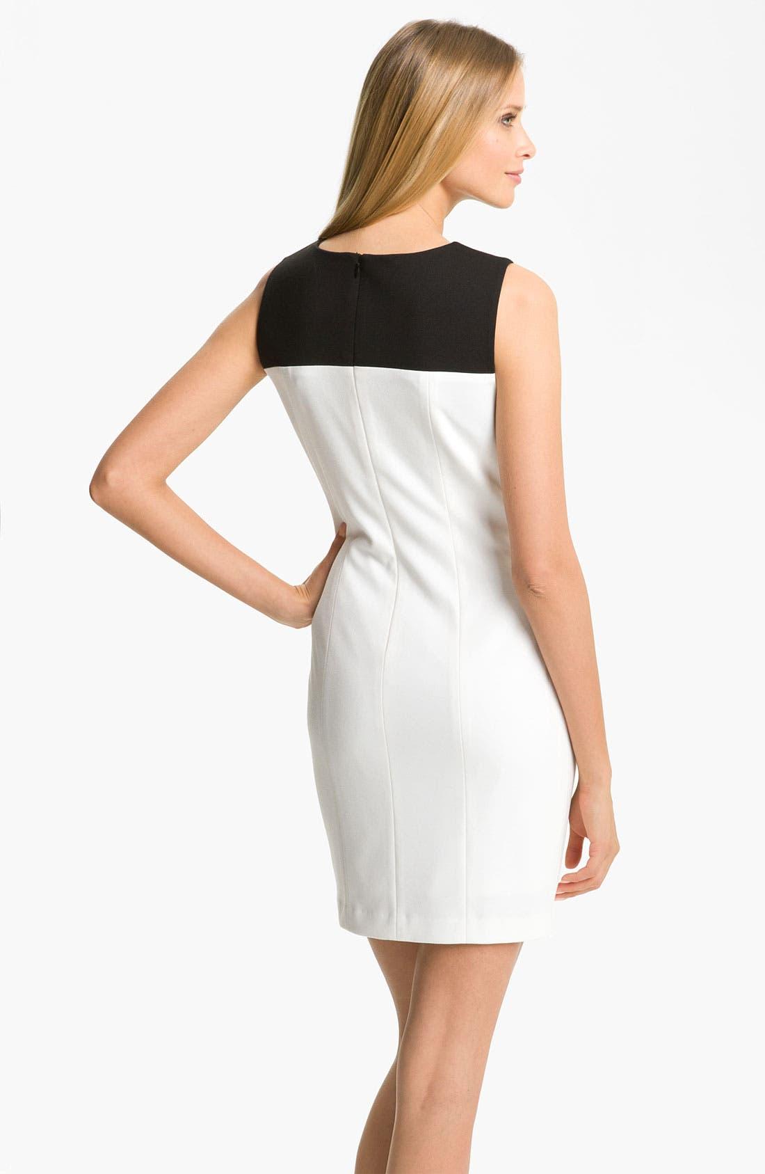 Alternate Image 2  - Calvin Klein Colorblock Ponte Sheath Dress