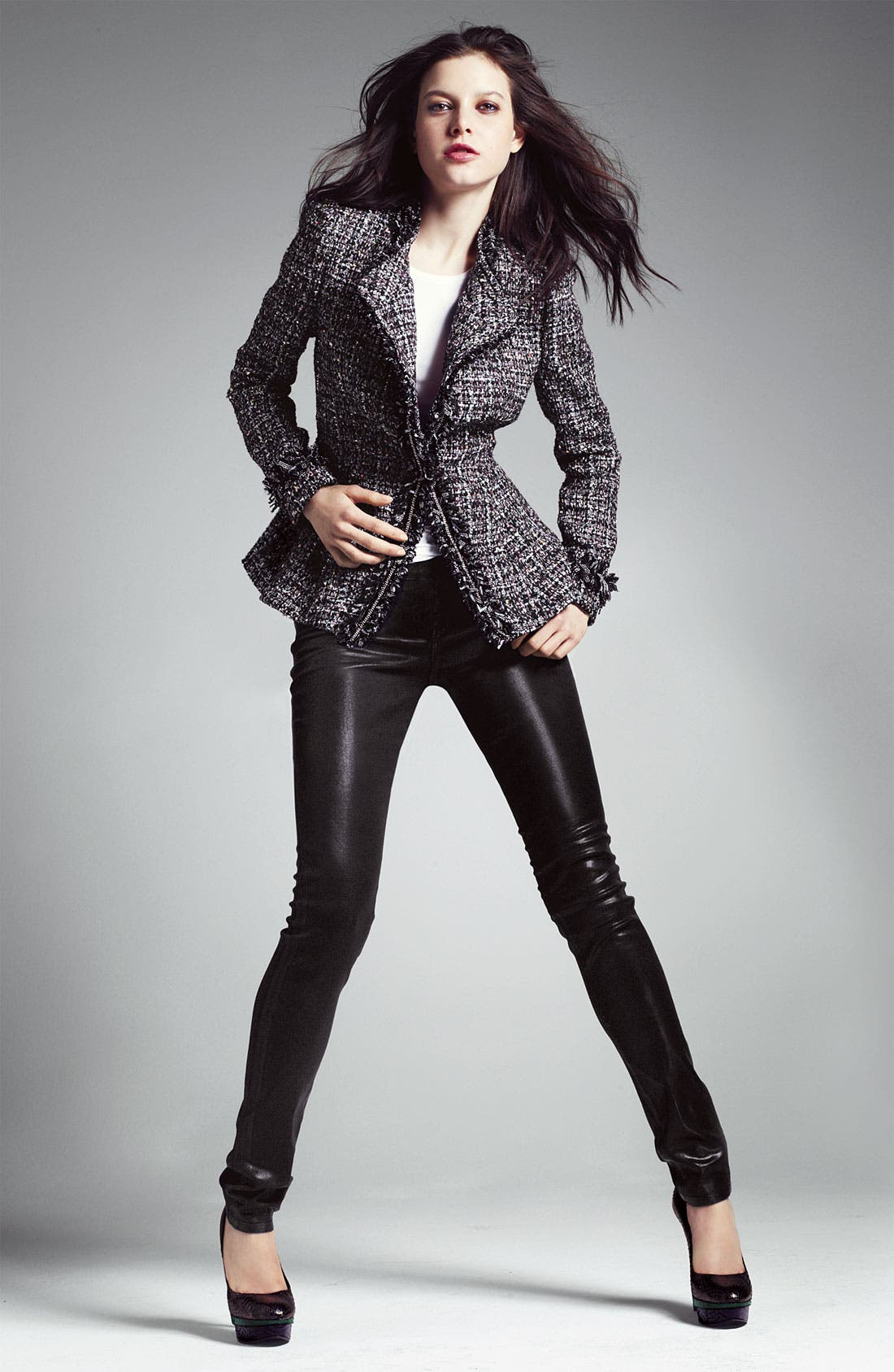 Alternate Image 4  - Mcginn Asymmetrical Metallic Tweed Jacket