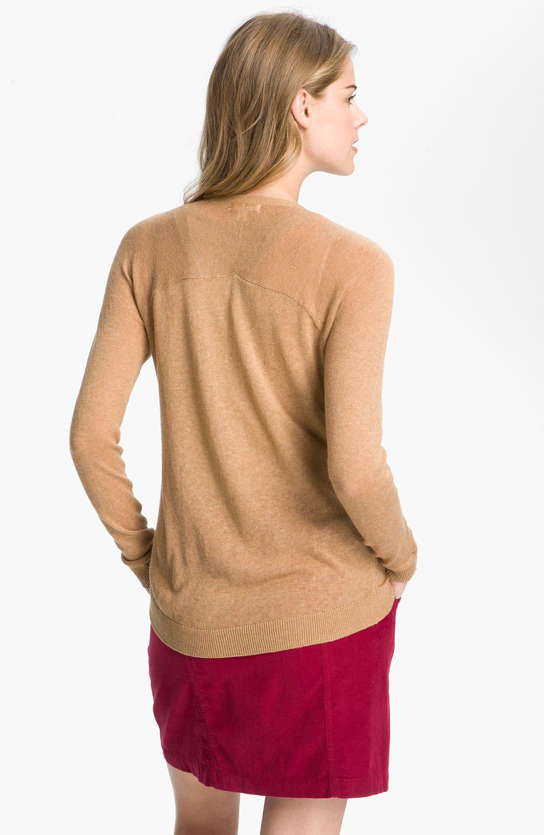 Alternate Image 2  - Caslon® Raglan Sleeve V-Neck Cardigan