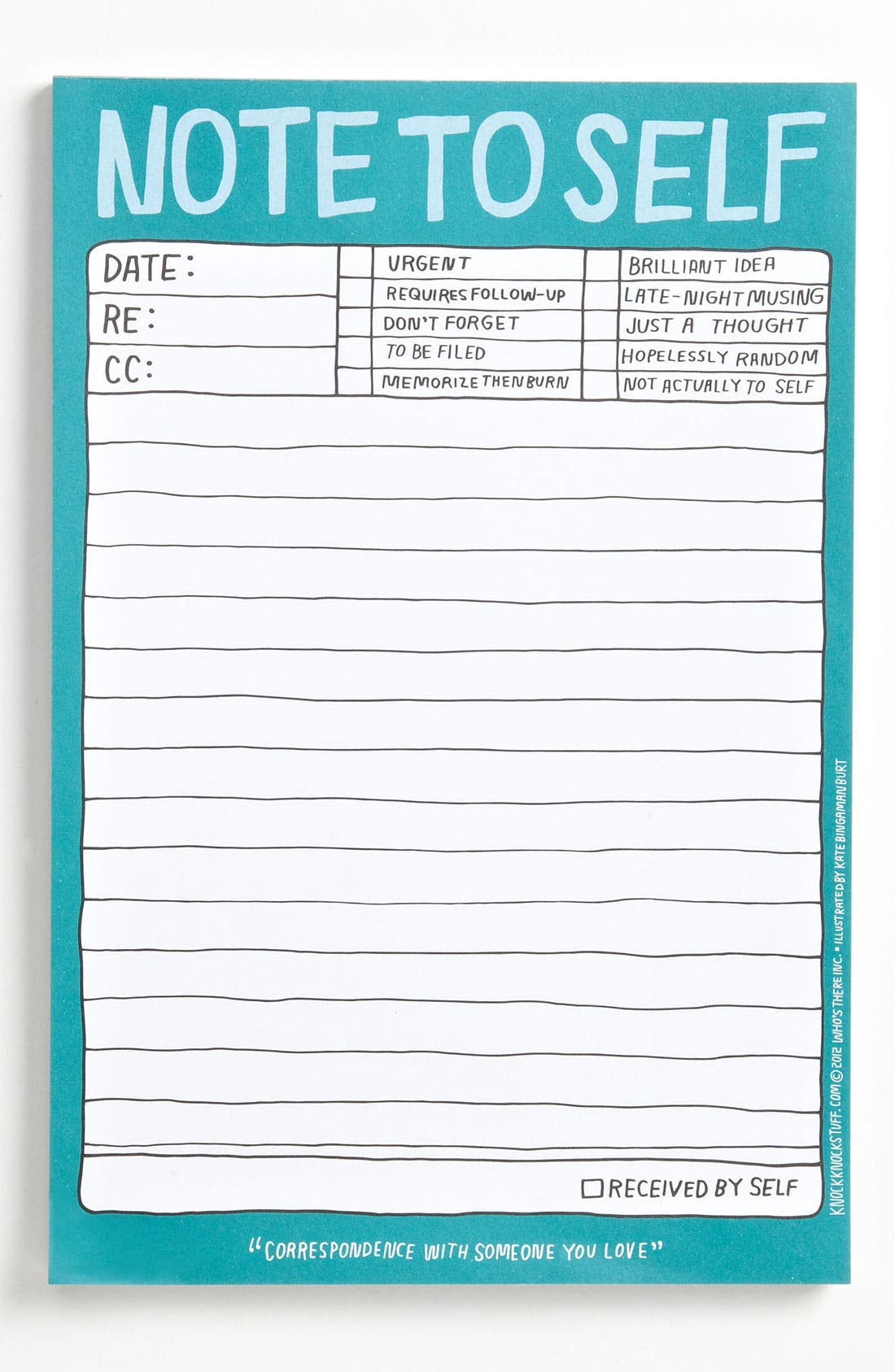 Alternate Image 1 Selected - Knock Knock 'Note to Self' Notepad