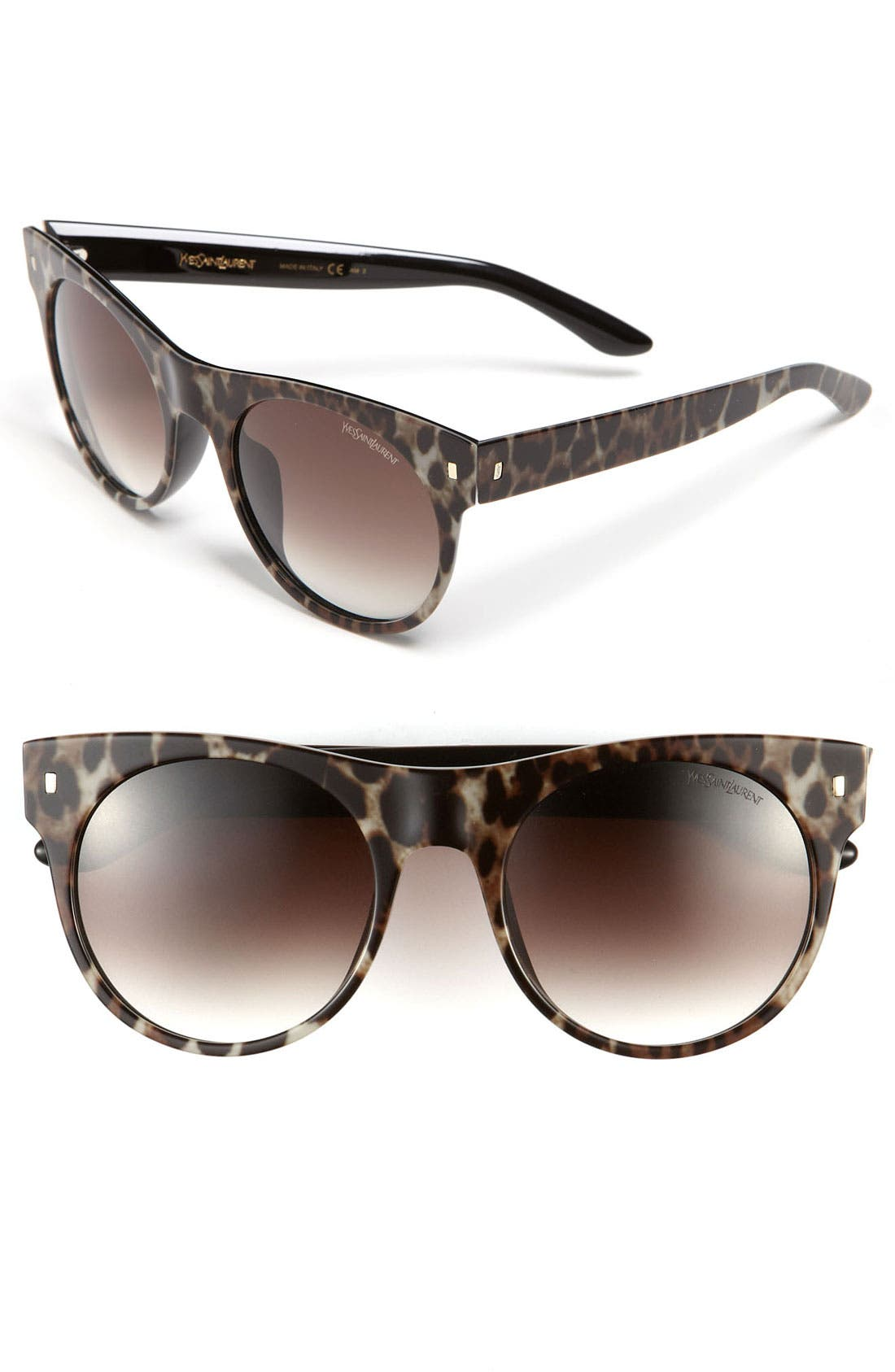 Retro Sunglasses,                         Main,                         color, Black Panther/ Grey Gradient