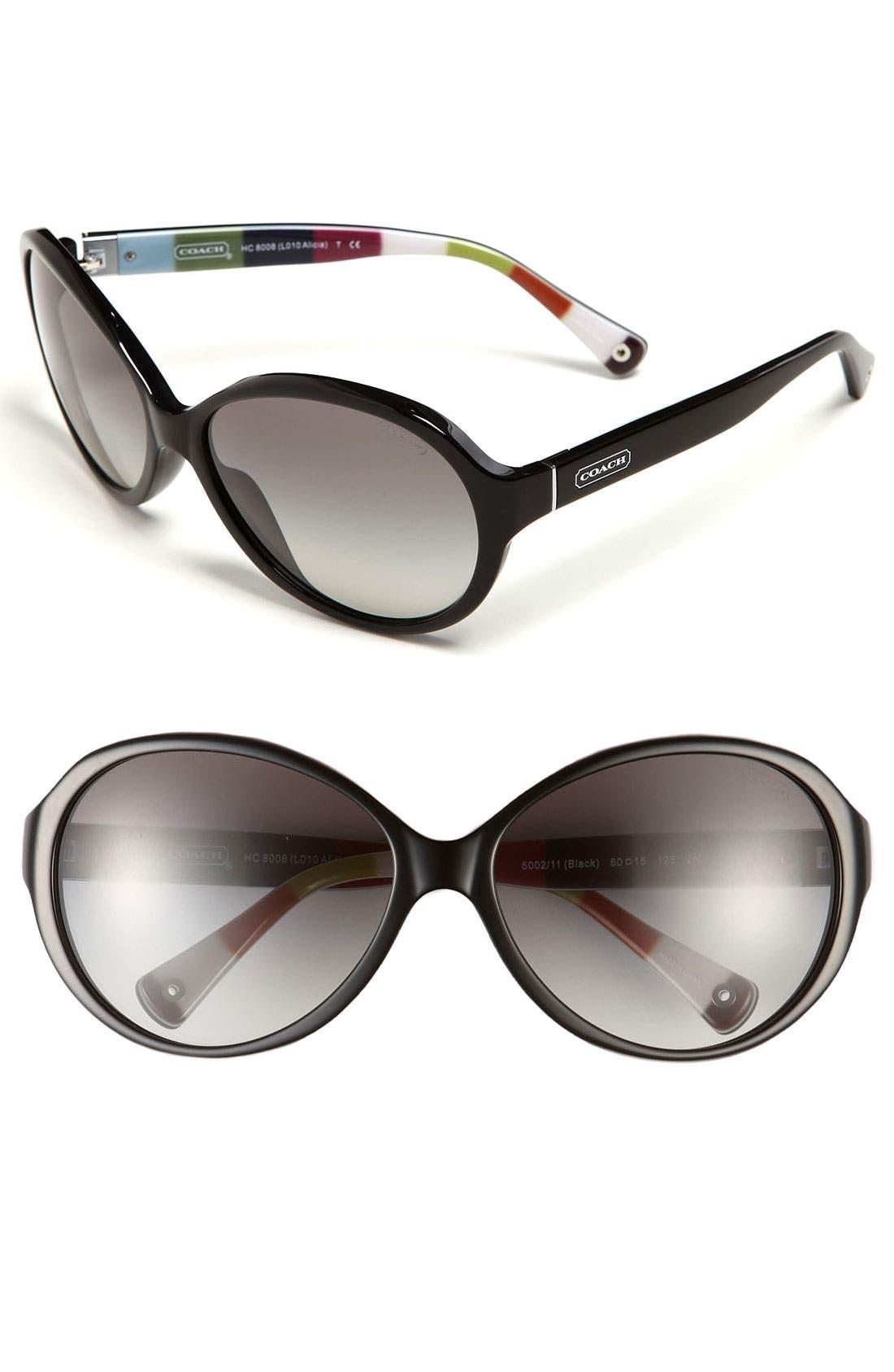 Alternate Image 1 Selected - COACH Gradient Lens Sunglasses