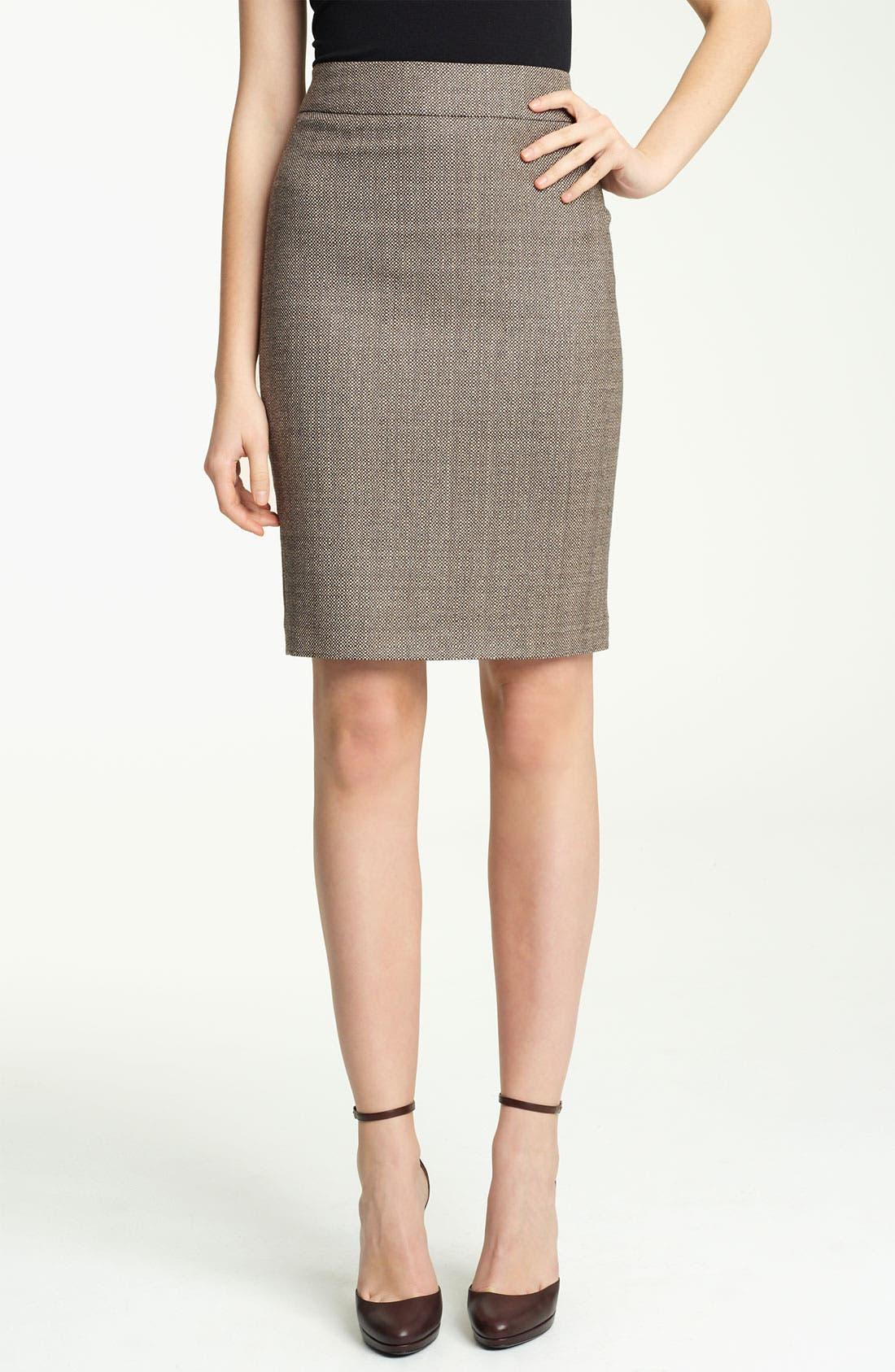 Main Image - Armani Collezioni Check Straight Skirt