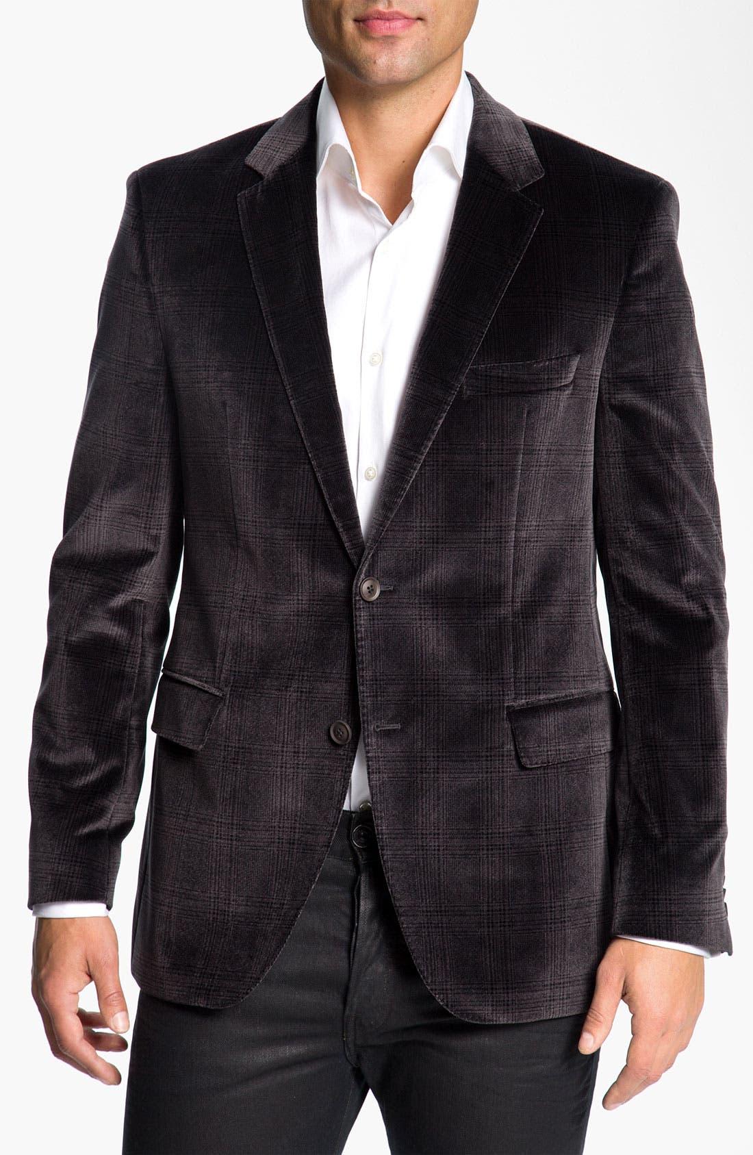 Alternate Image 1 Selected - BOSS Black 'Smith' Velvet Plaid Sportcoat