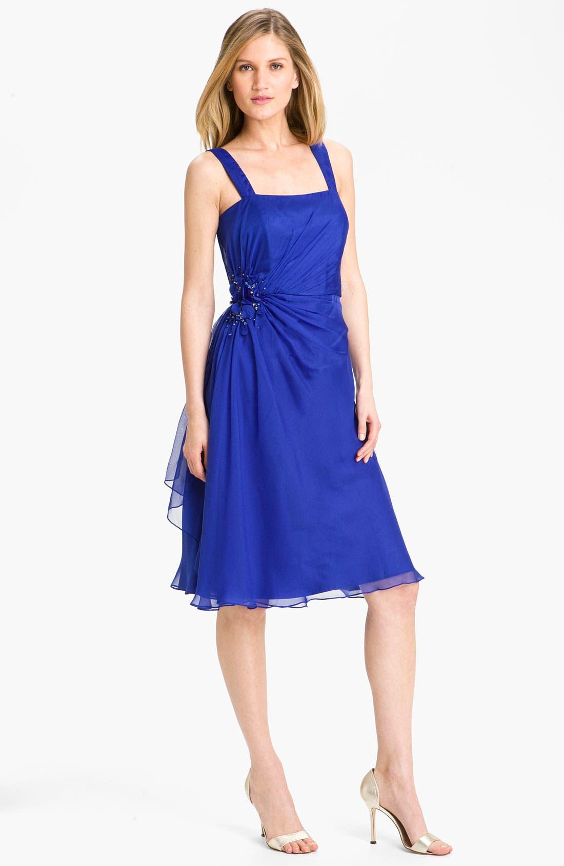 Alternate Image 2  - Veni Infantino Ruched Chiffon Dress & Bolero