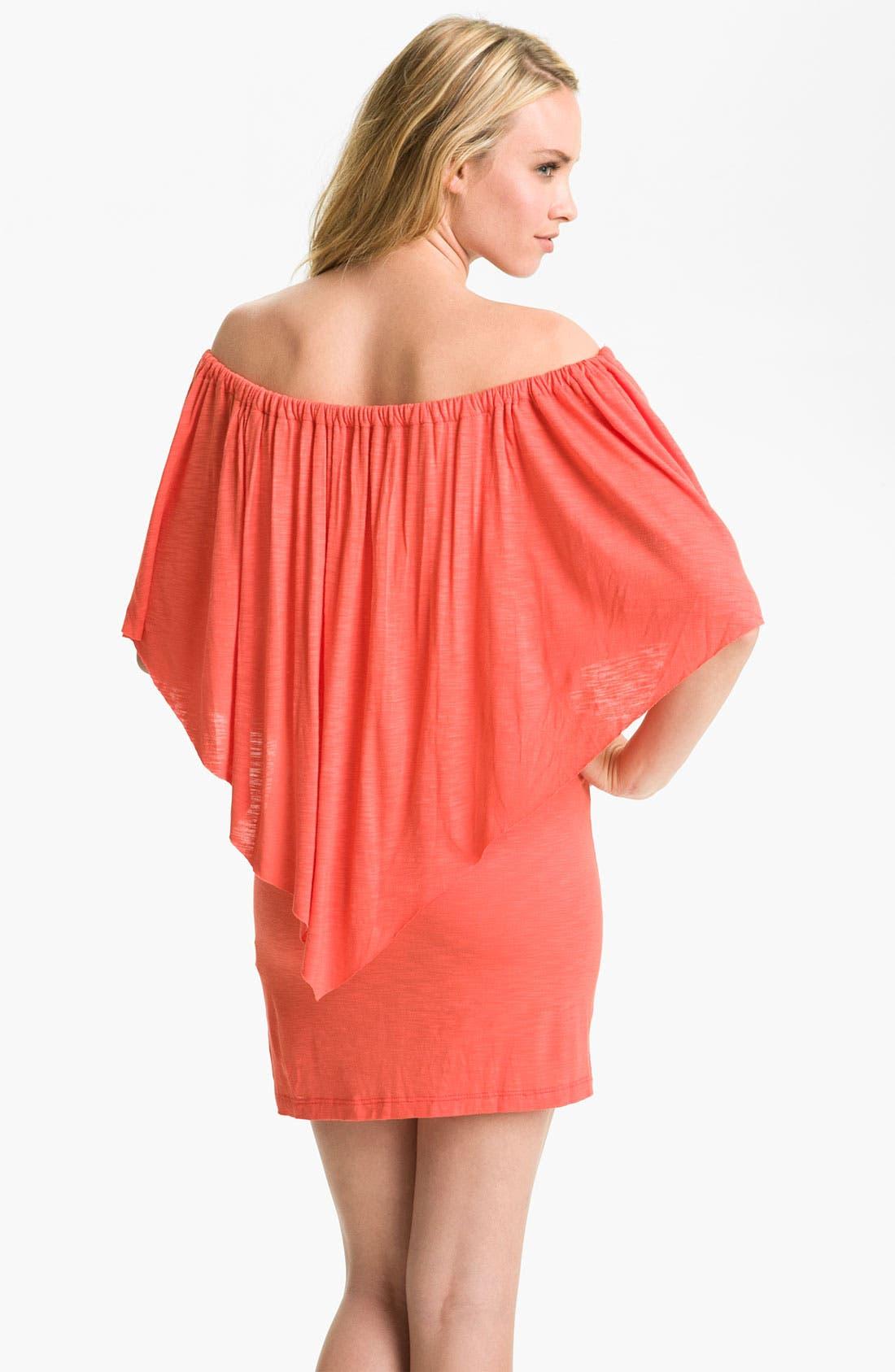 Alternate Image 2  - Elan Off Shoulder Cover-Up Dress
