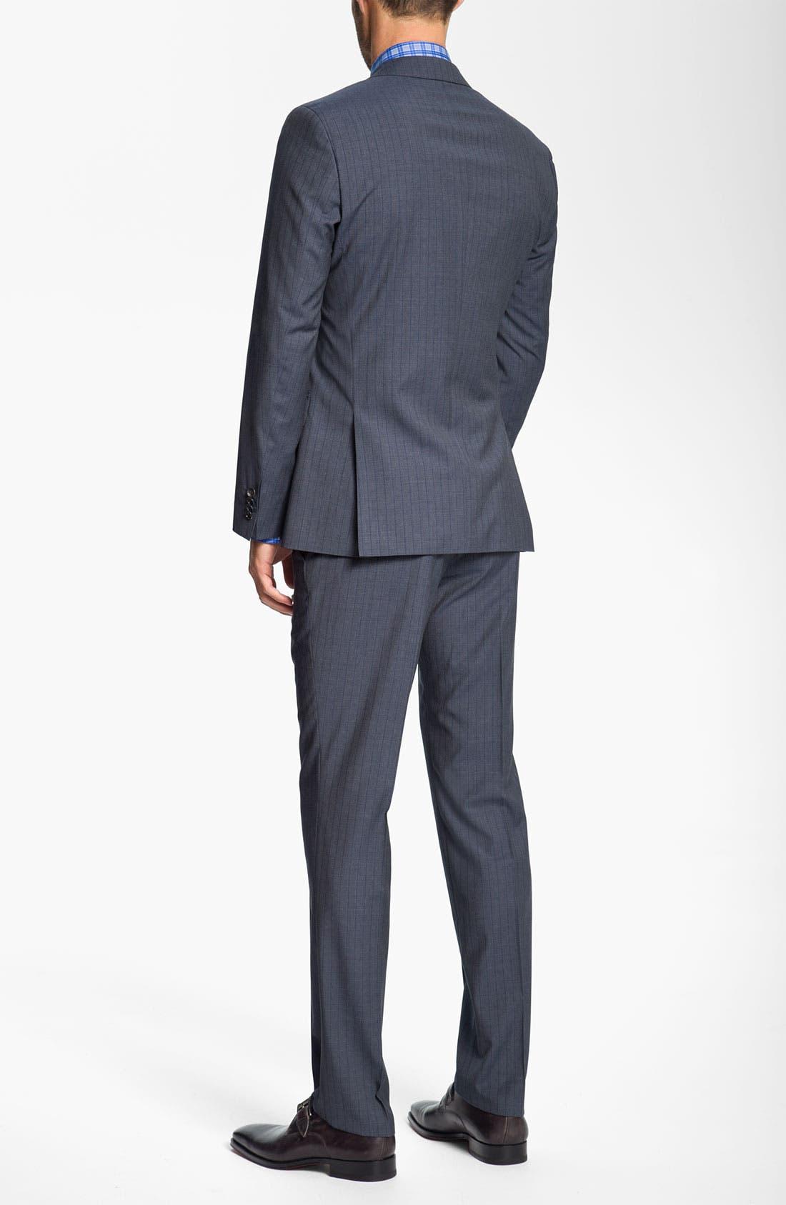 Alternate Image 3  - BOSS Black 'Huge/Genius' Stripe Suit