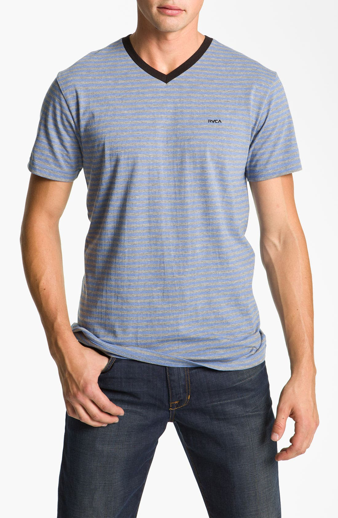 Main Image - RVCA 'Grain' Trim Fit V-Neck T-Shirt